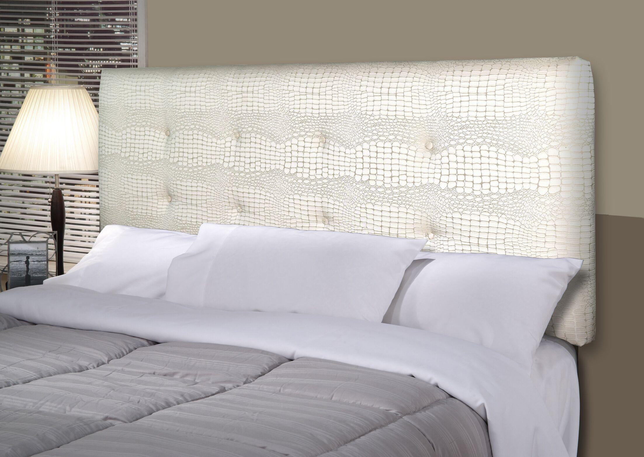 Tillie Ali Upholstered Panel Headboard Size: California King, Upholstery: Cream