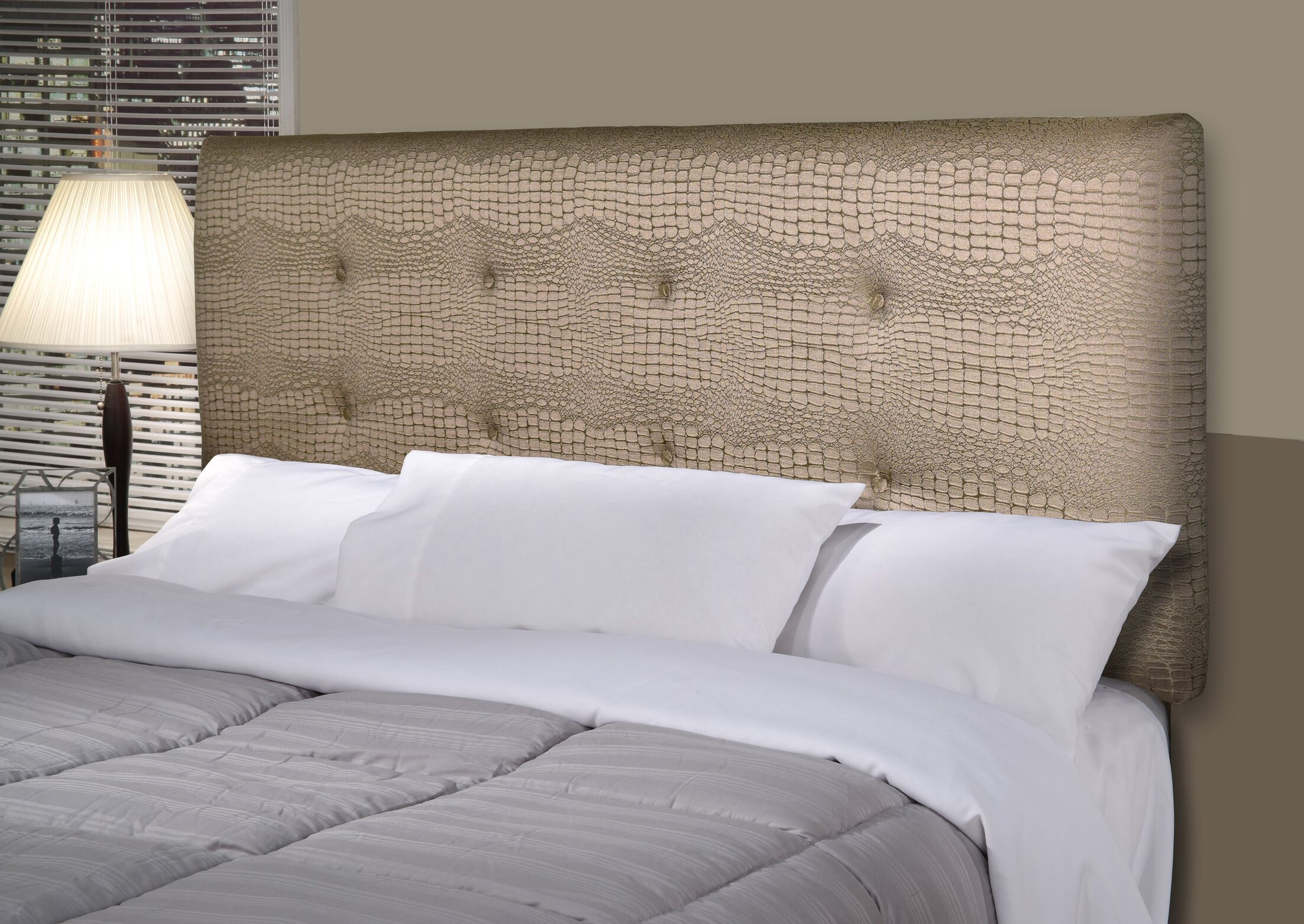 Tillie Ali Upholstered Panel Headboard Size: Full, Upholstery: Silver
