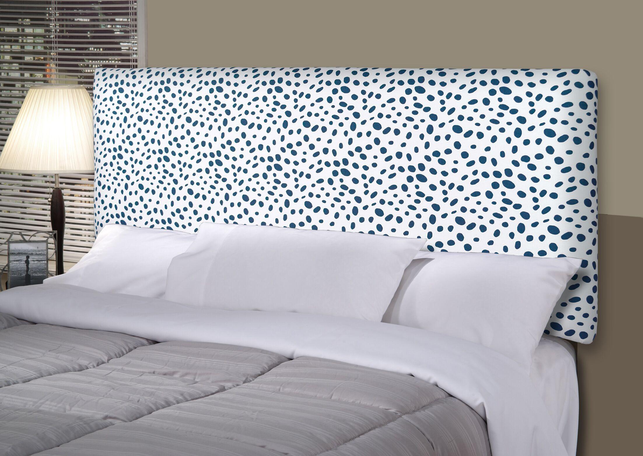 Togo Alice Upholstered Panel Headboard Upholstery: Aqua Blue, Size: King