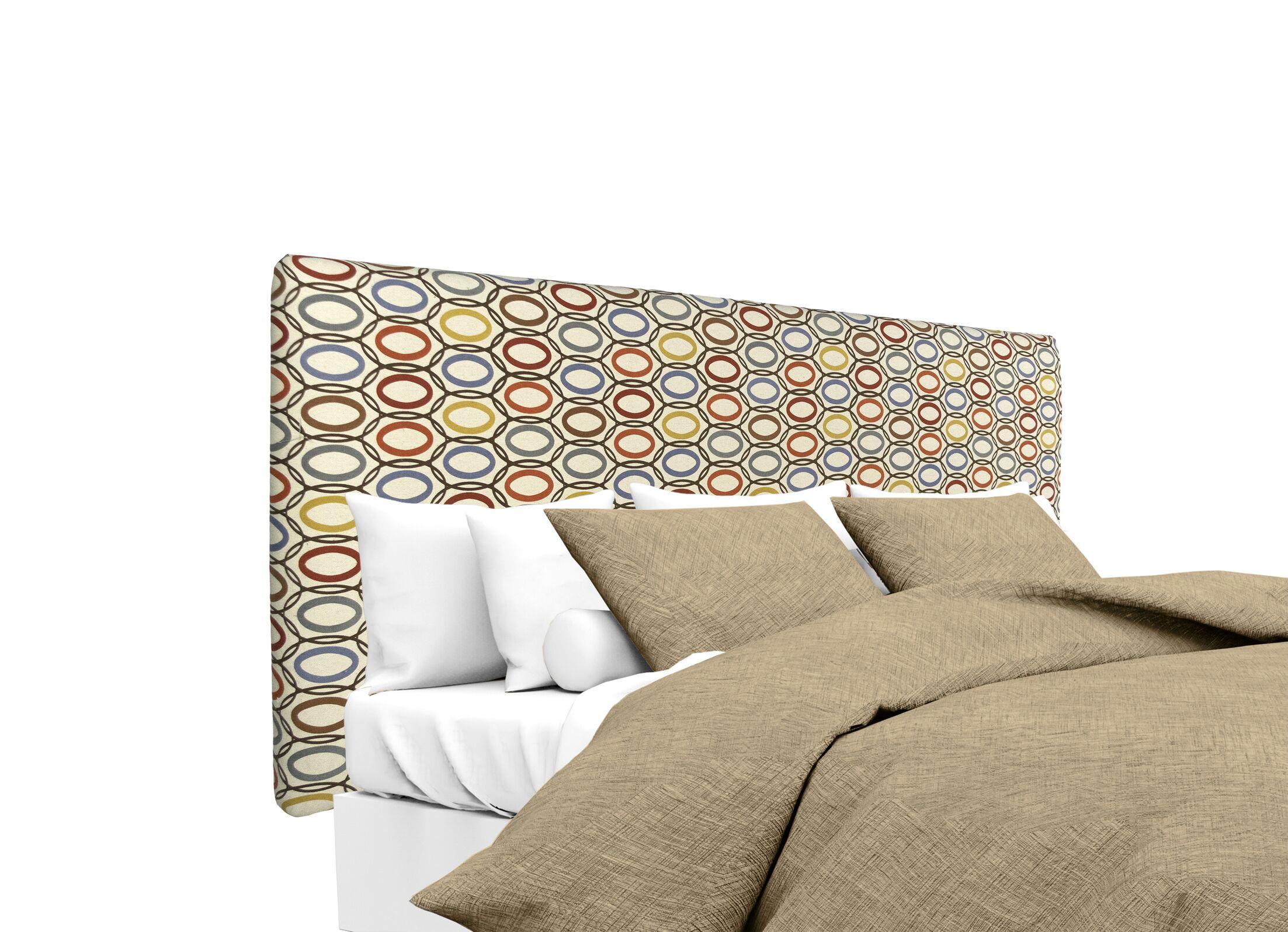 CollVera Upholstered Panel Headboard Size: Full, Upholstery: Harvest