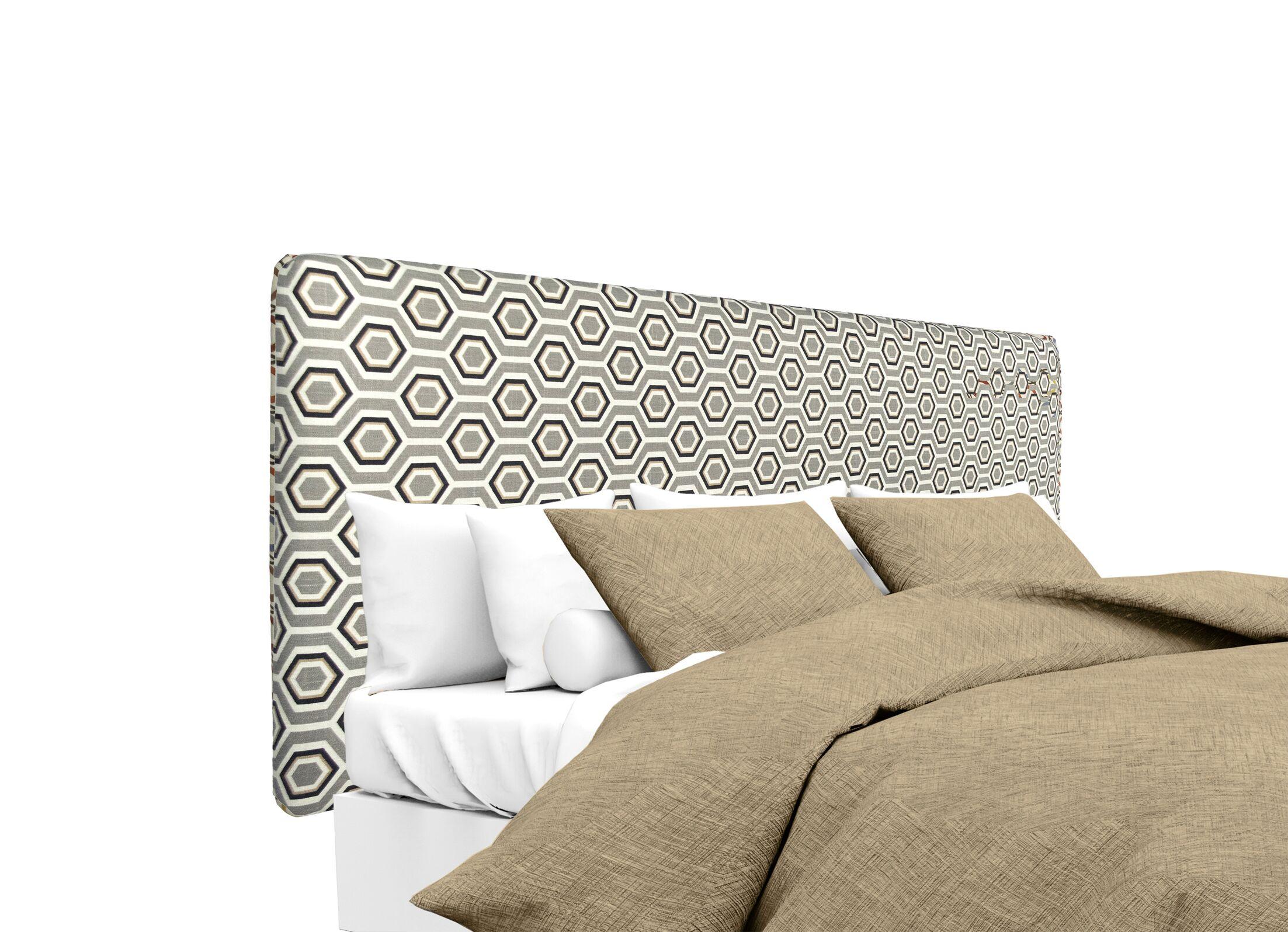 Ashton Upholstered Panel Headboard Size: King, Upholstery: Silver