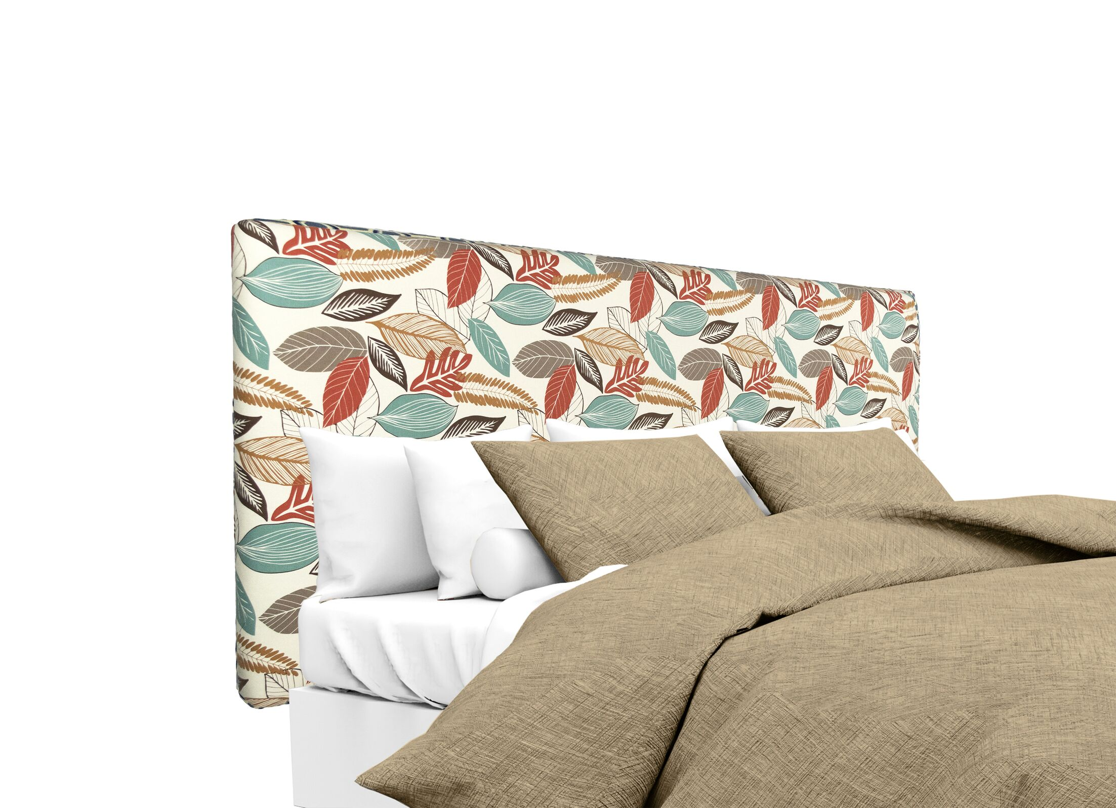 Upholstered Panel Headboard Size: King, Upholstery: Coral