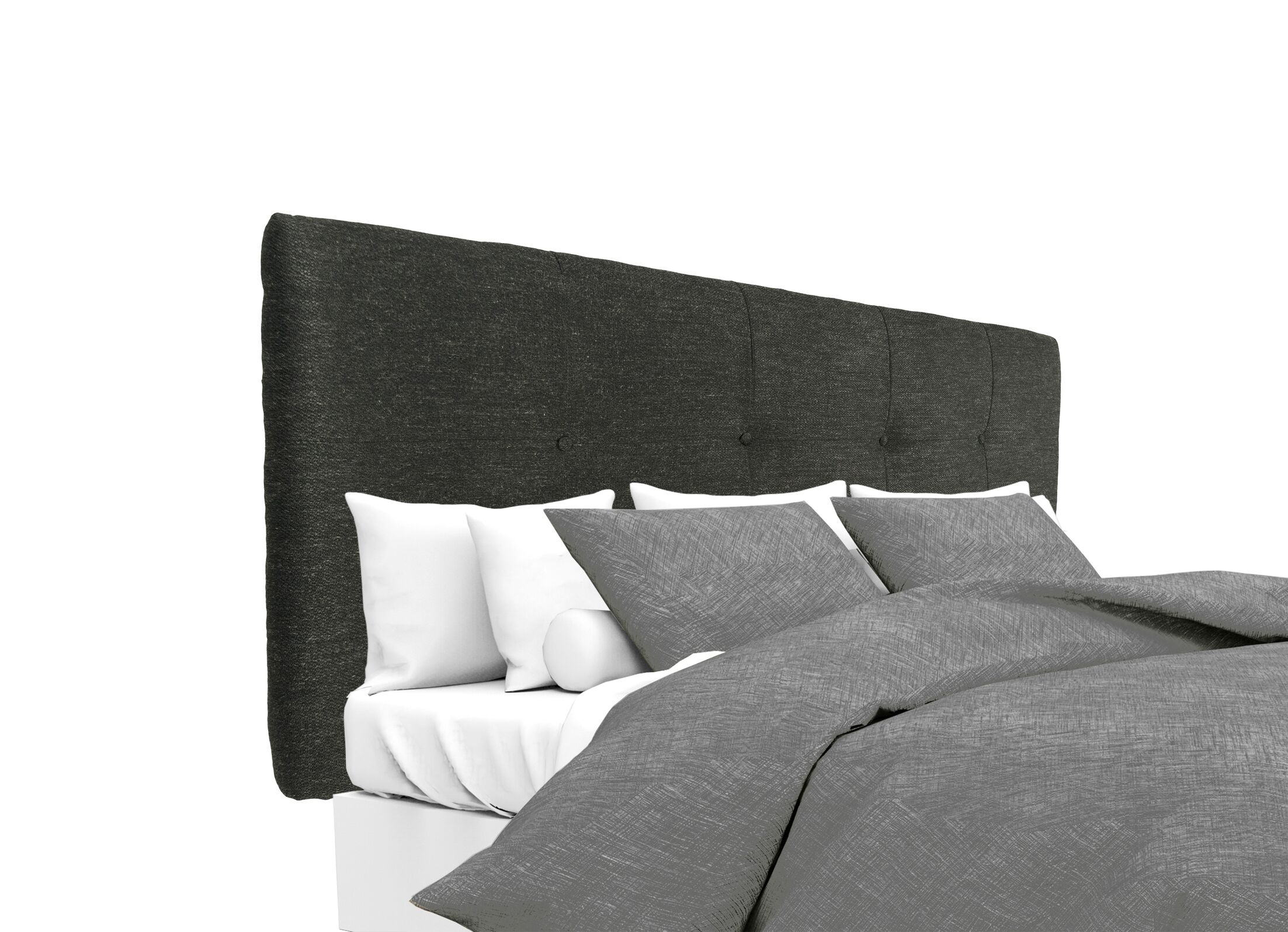 Belfast Upholstered Panel Headboard Size: Queen, Upholstery: Charcoal