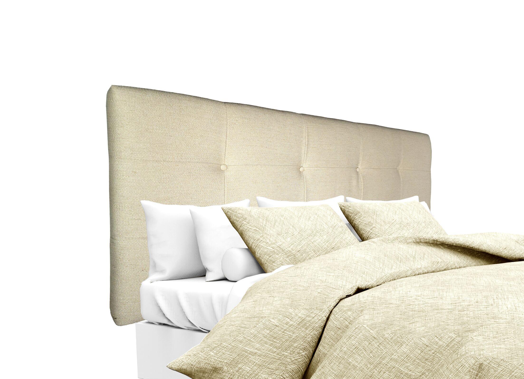 Belfast Upholstered Panel Headboard Size: Queen, Upholstery: Linen