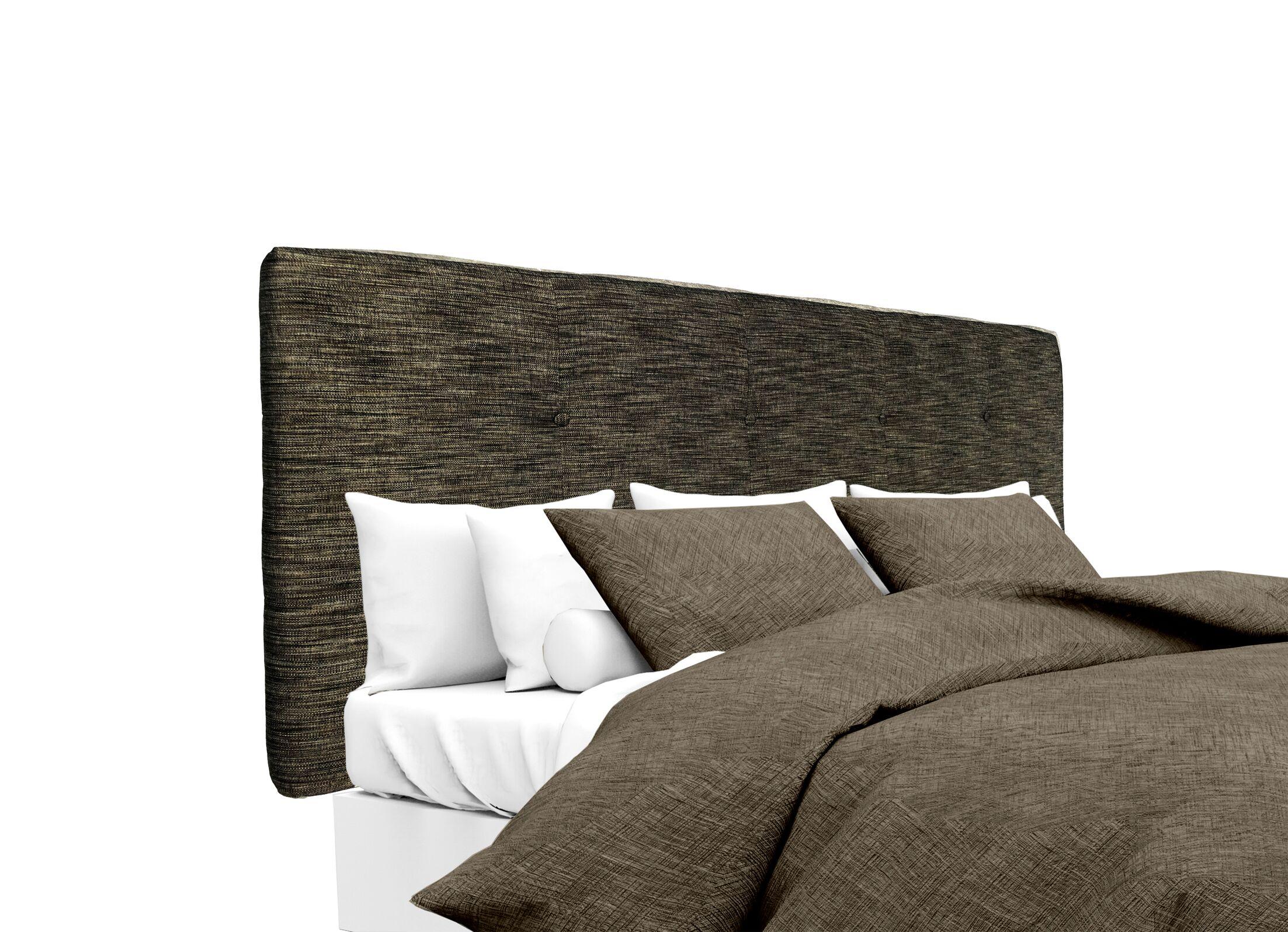 Lucky Upholstered Panel Headboard Size: King, Upholstery: Phantom