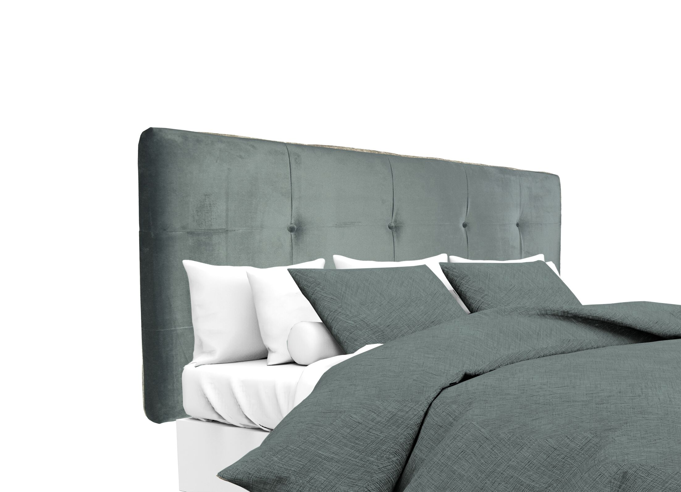 Mystere Upholstered Panel Headboard Size: Twin