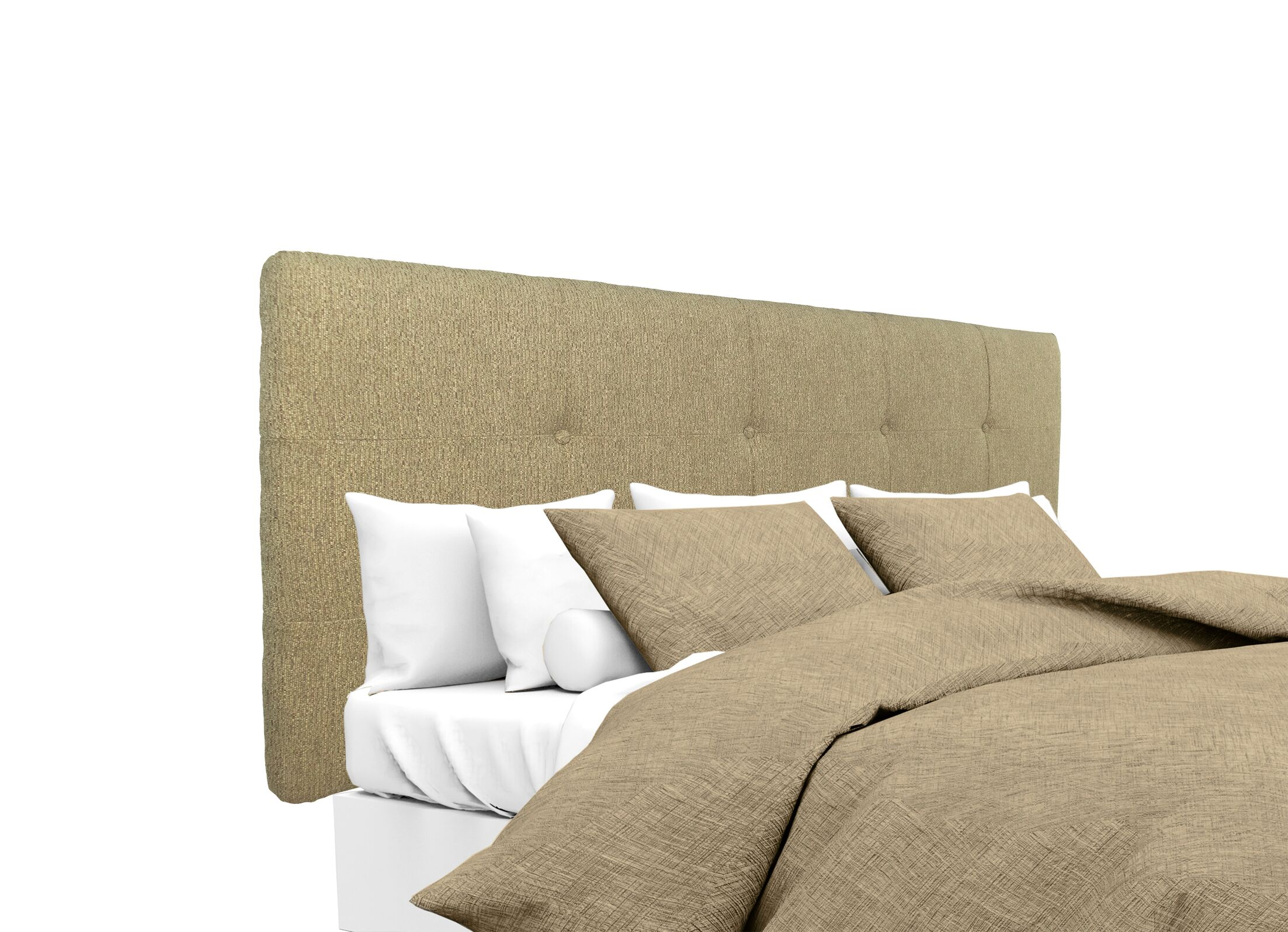 Olivia Upholstered Panel Headboard Size: Full, Upholstery: Doe