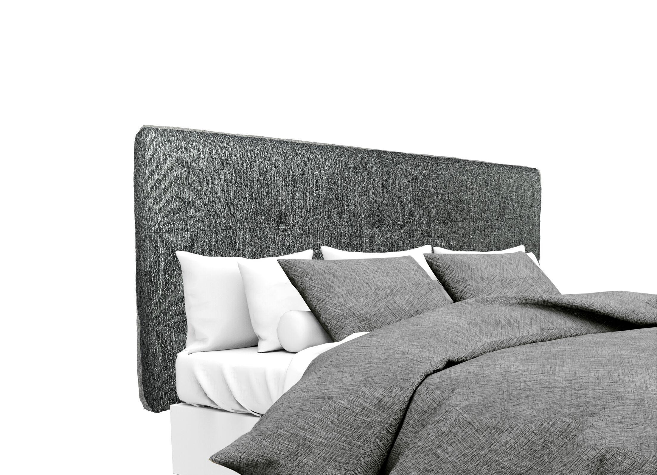 Olivia Upholstered Panel Headboard Size: Twin, Upholstery: Charcoal