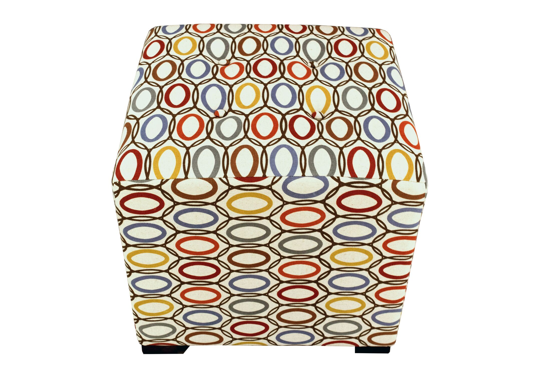 Merton Coll-Vera Cube Ottoman Upholstery: Harvest