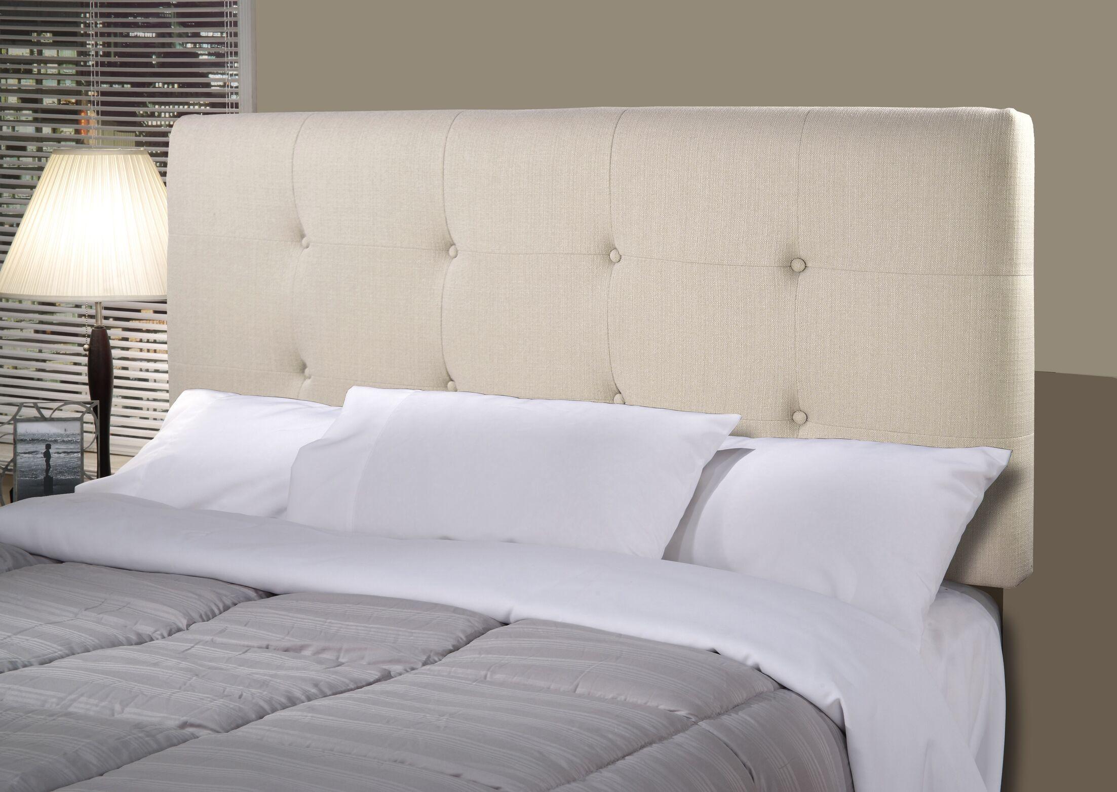 Tilden Upholstered Panel Headboard Upholstery: Khaki, Size: King
