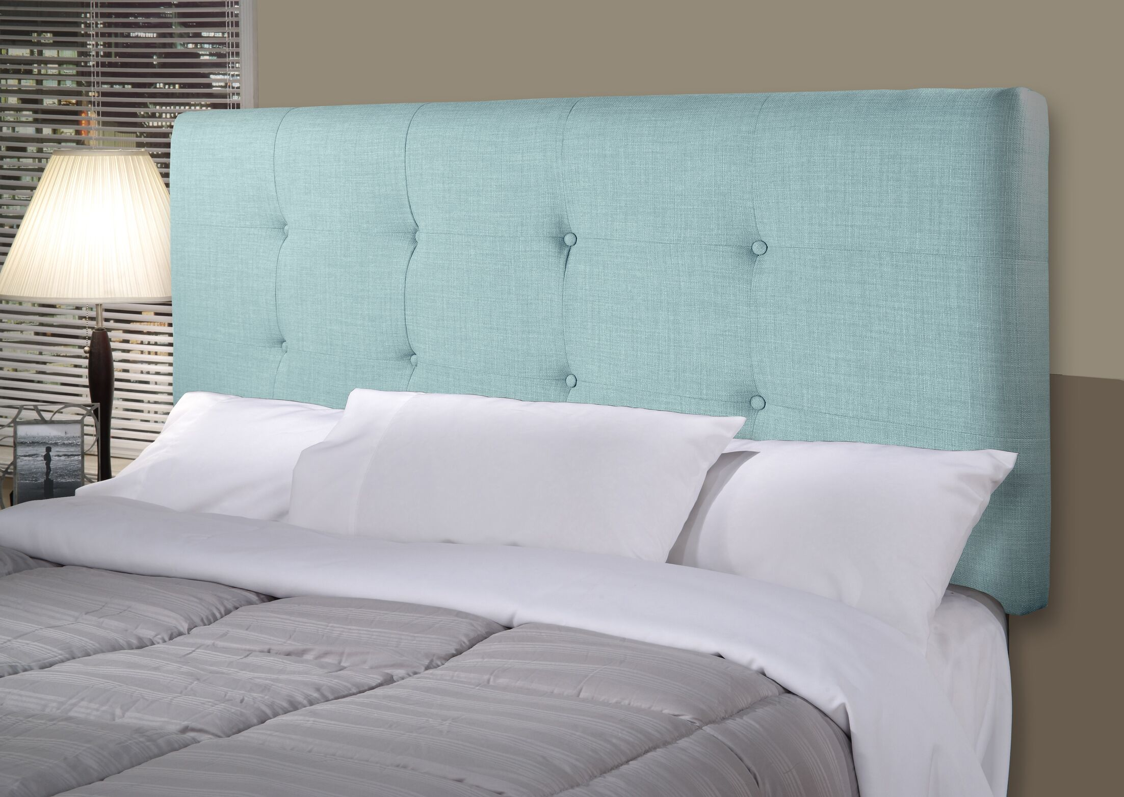 Ali Upholstered Panel Headboard Size: Twin, Upholstery: Sea Mist Green