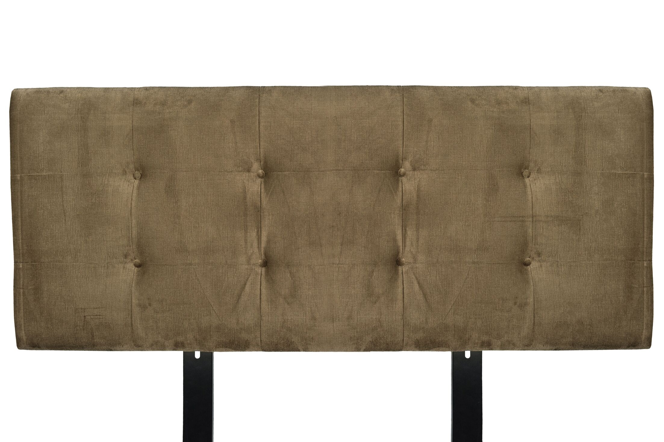 Ennis Upholstered Panel Headboard Size: King, Upholstery: Coffee