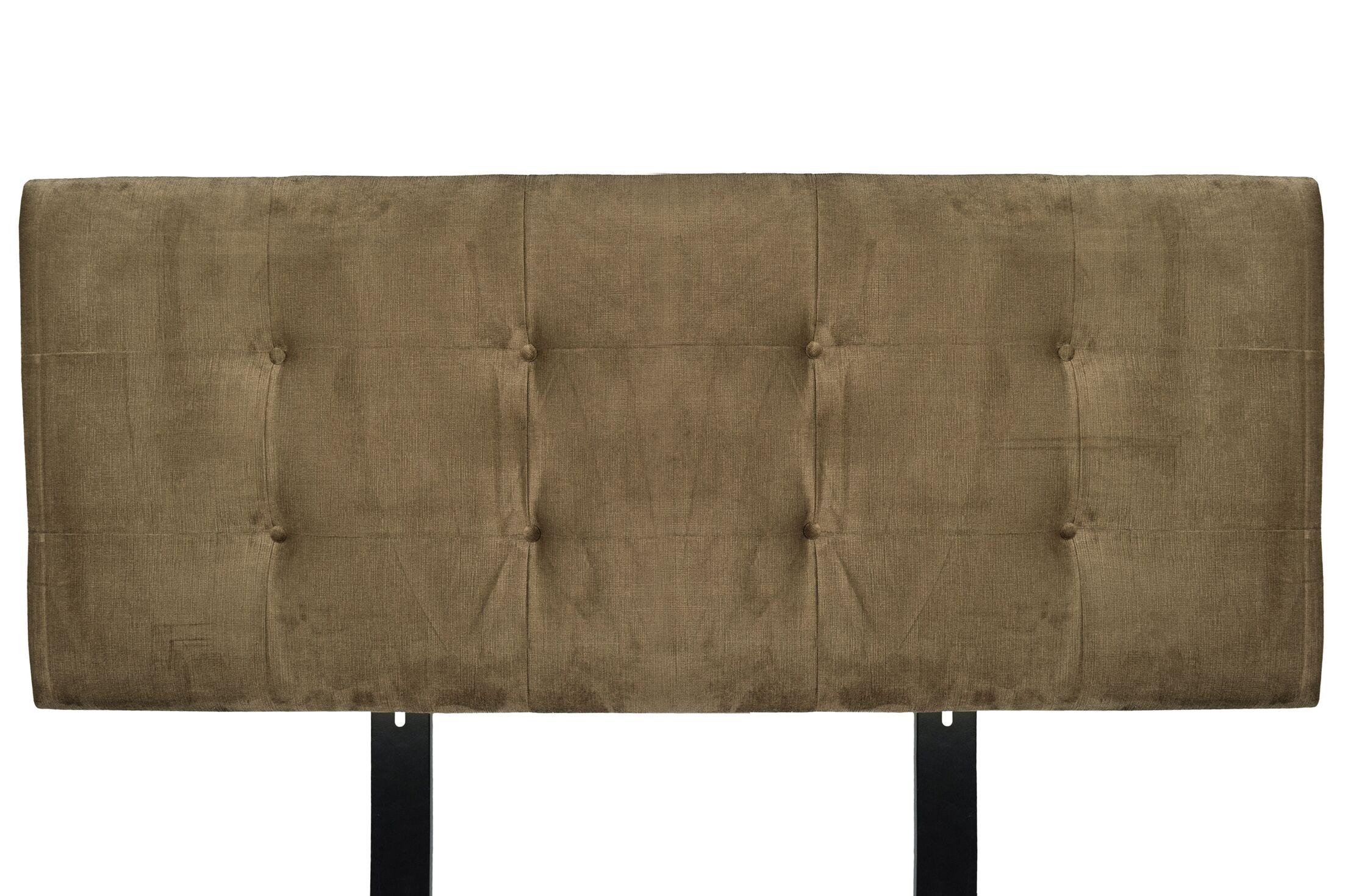 Ennis Upholstered Panel Headboard Size: Full, Upholstery: Coffee