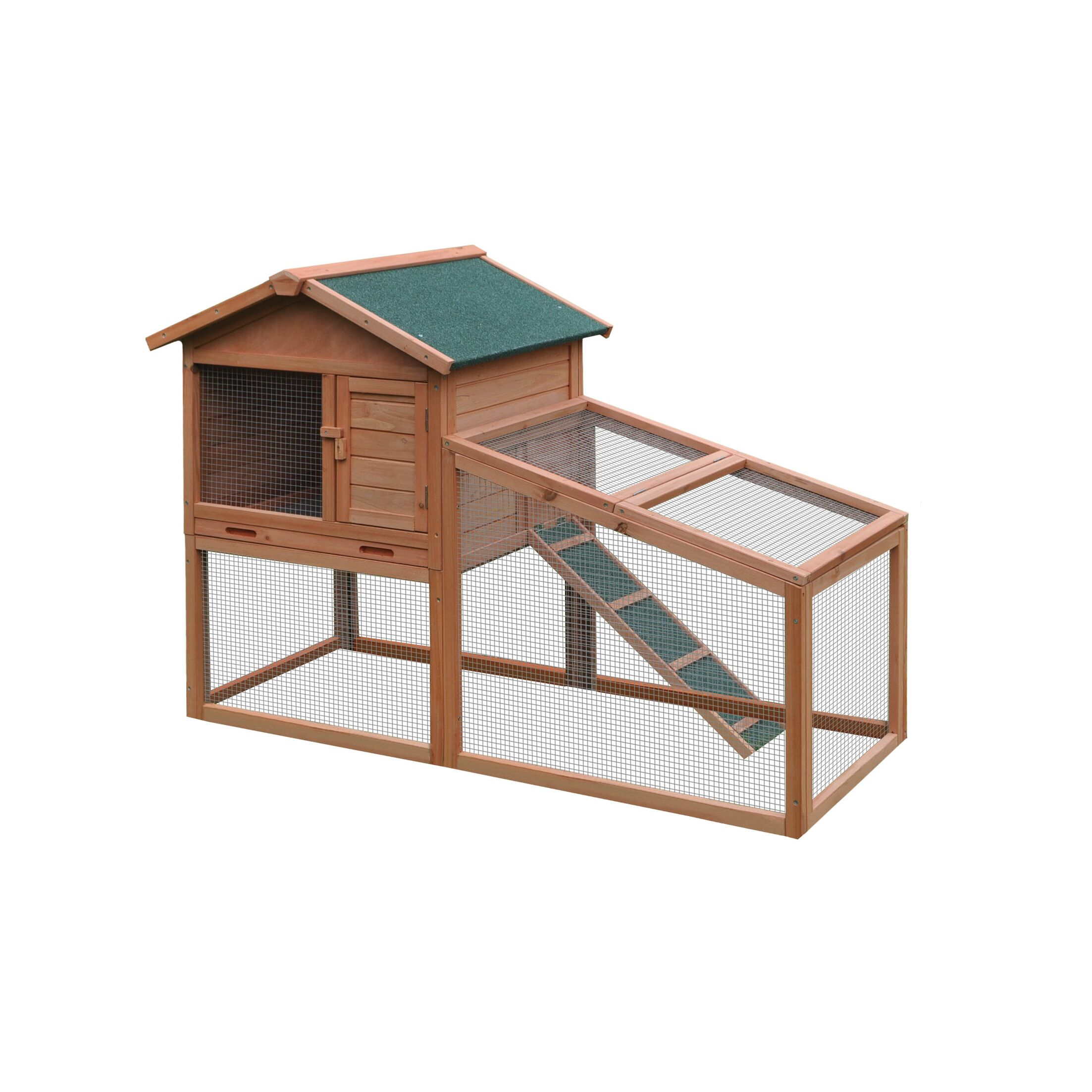 Dakota Wooden Pet House Chicken Coop with Chicken Run