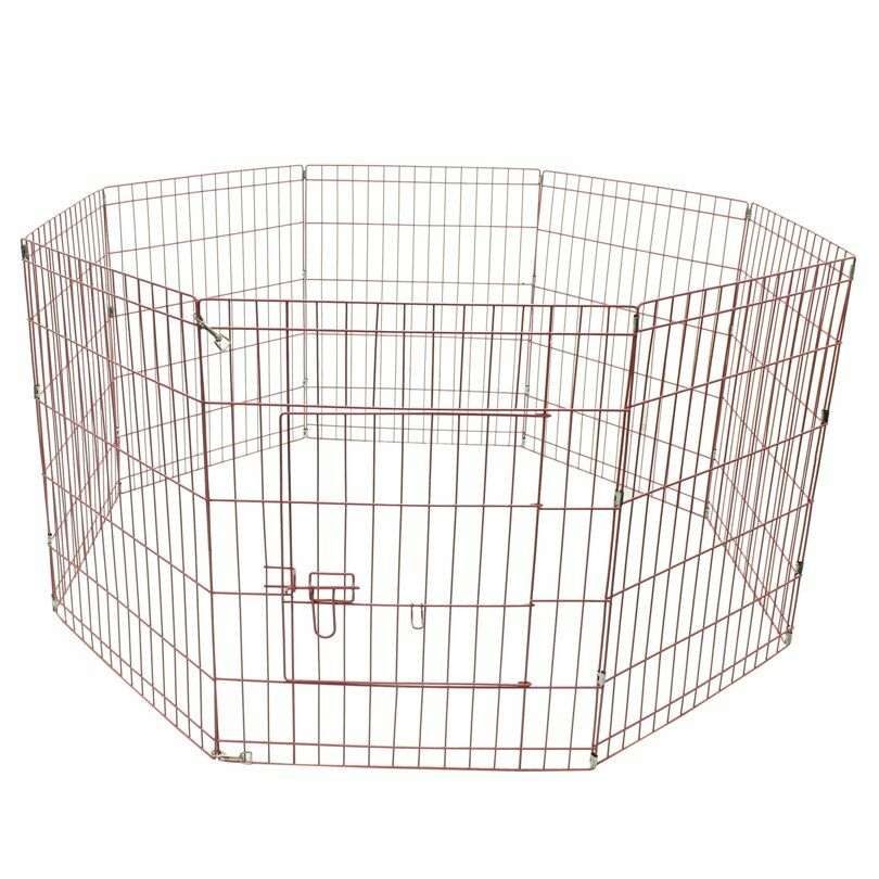 Messner Exercise Cage Fence 8 Panel Pet Pen Size: 30