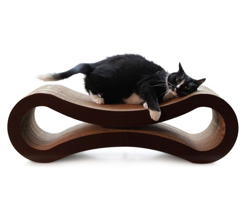 Kato Modern Curved Cat Lounge Scratching Board Size: 10.5