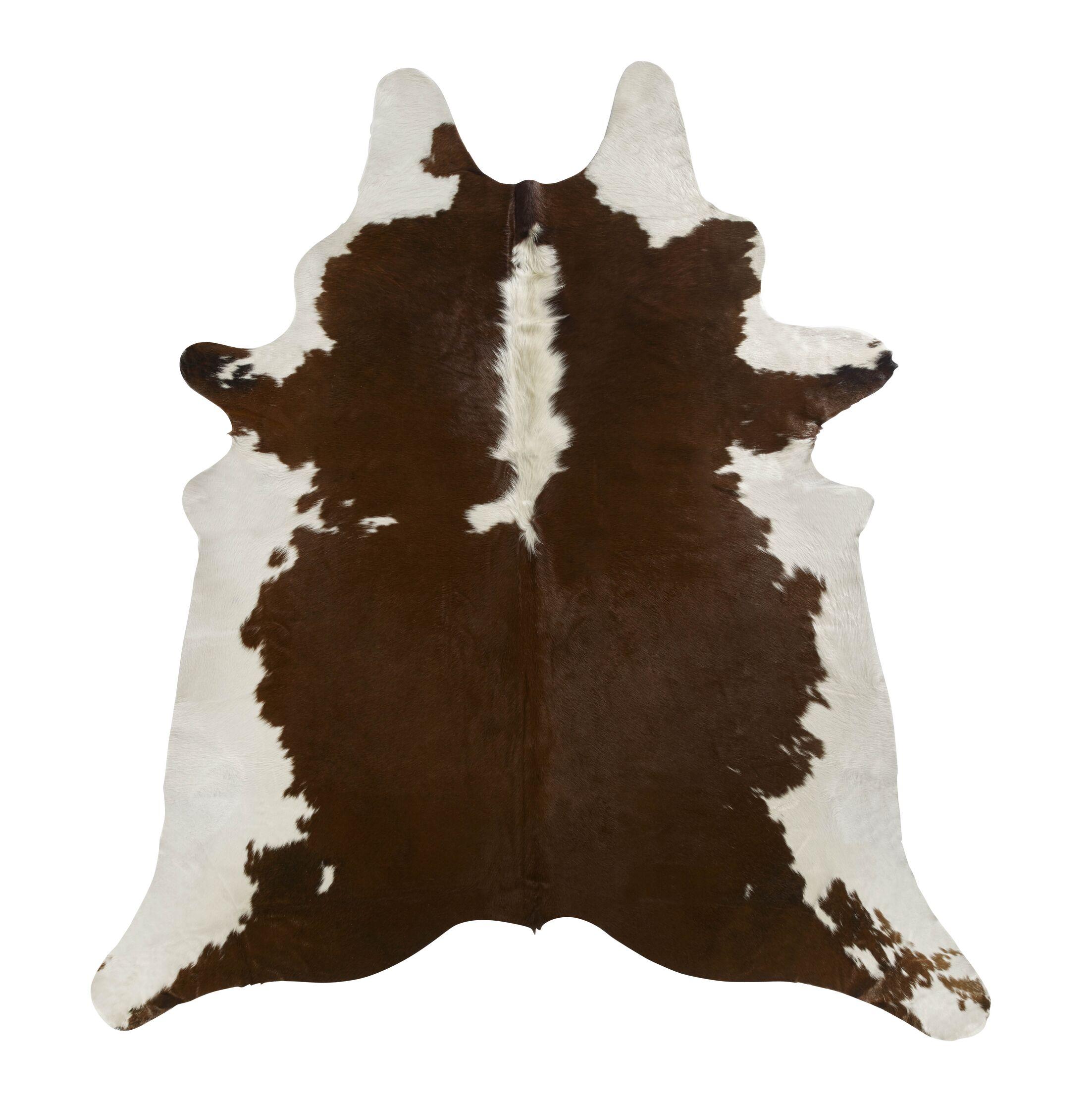 Brown/White Regular Area Rug Rug Size: 6'6