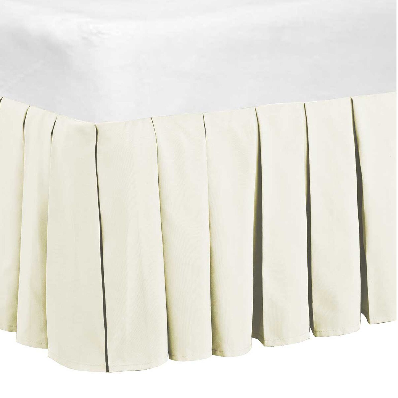 Classic Dust Ruffle Bed Skirt Color: Ivory, Size: Queen