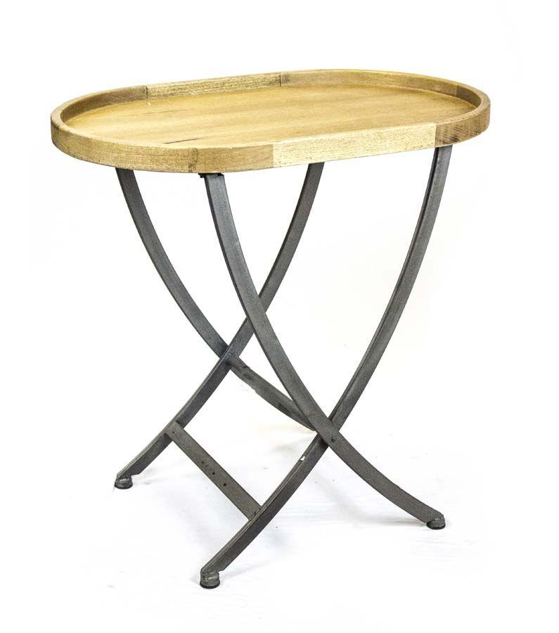 Wood & Metal End Table