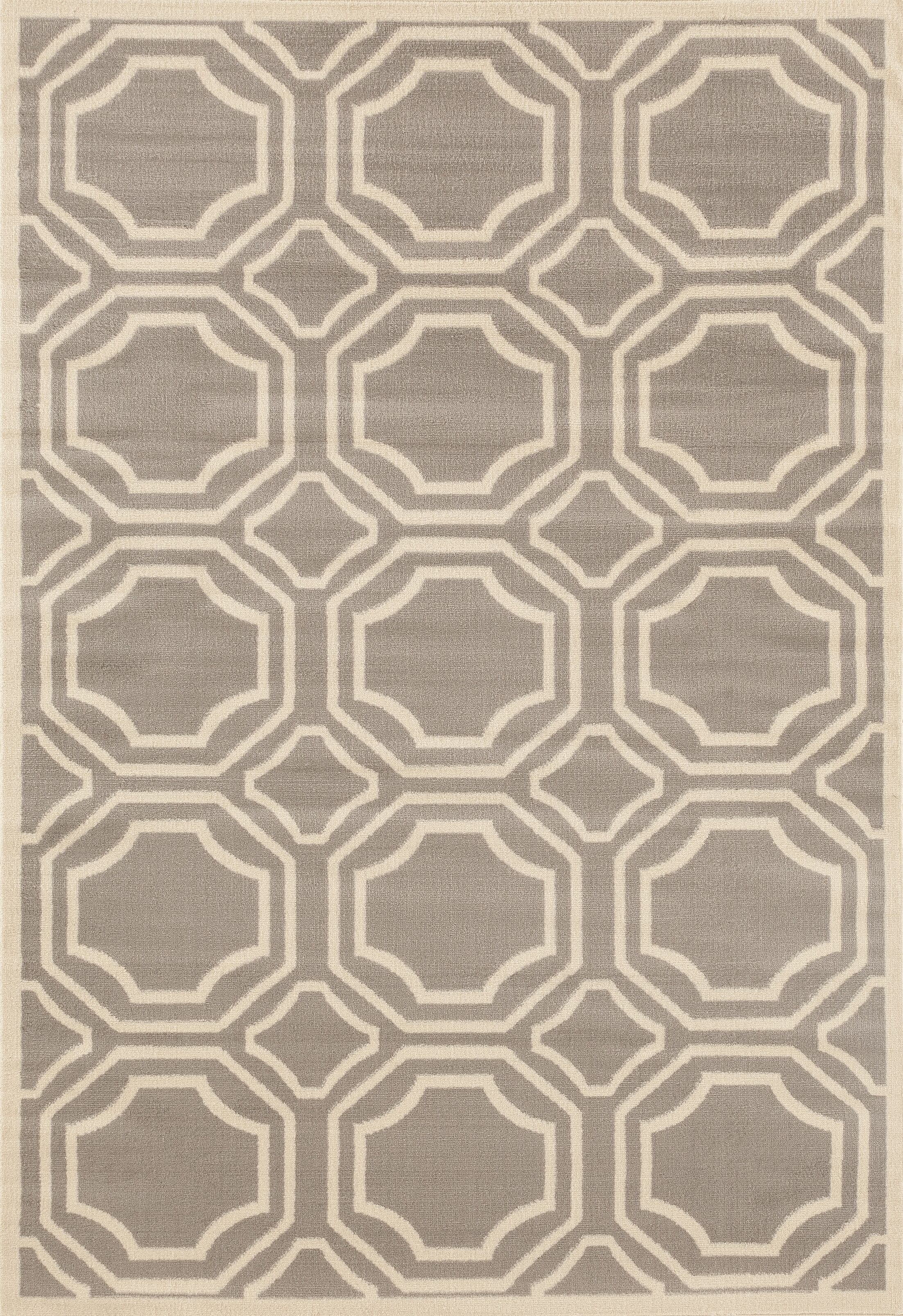 Freeman Gray Area Rug Rug Size: 7'6