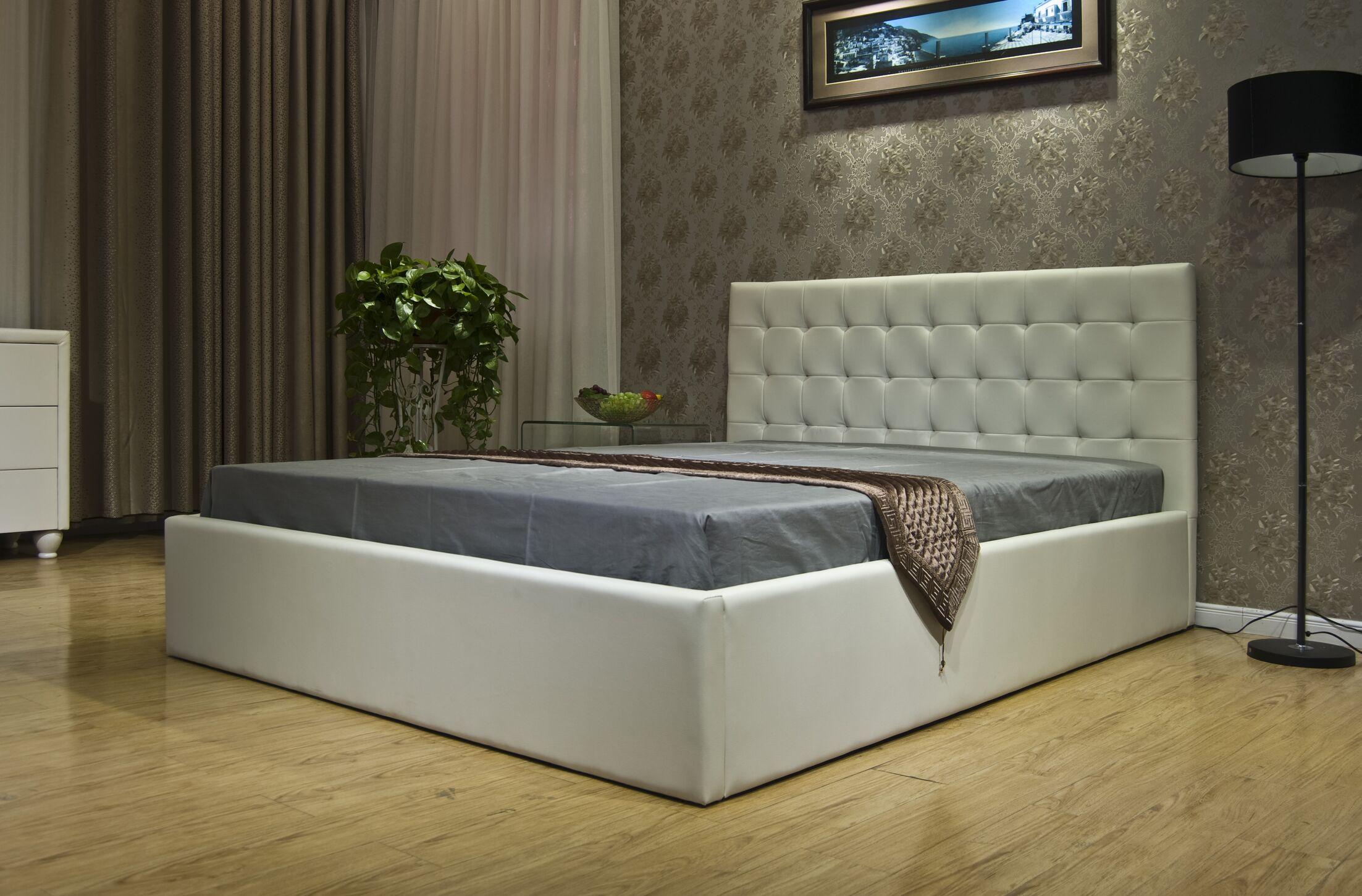 Upholstered Storage Platform Bed Color: White, Size: Full