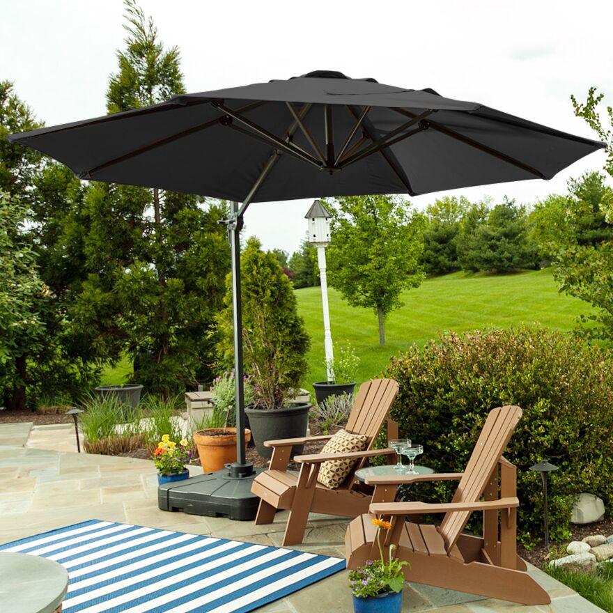 Sunblock 10' Cantilever Umbrella Color: Gray