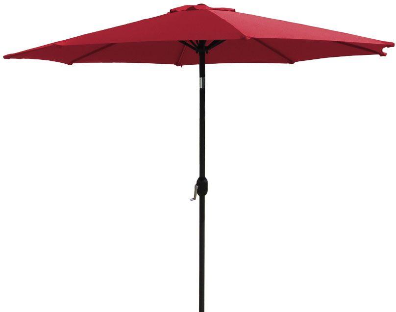 9' Market Umbrella Fabric: Red
