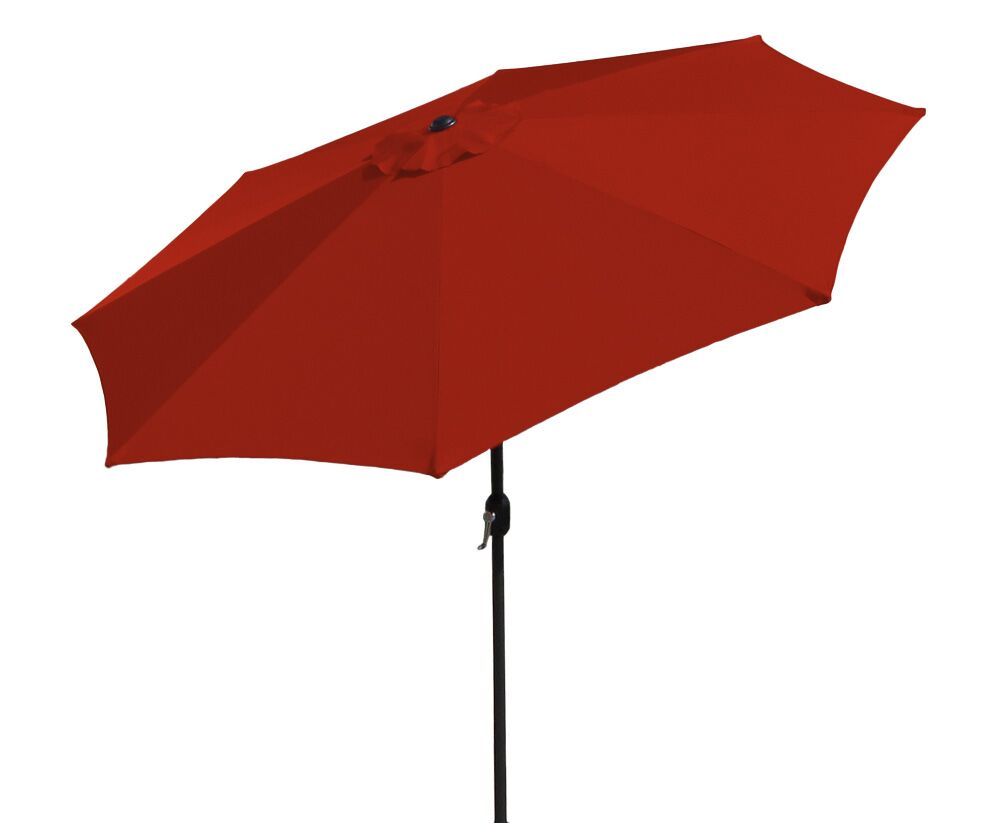 Sunblok 7' Market Umbrella Fabric: Red