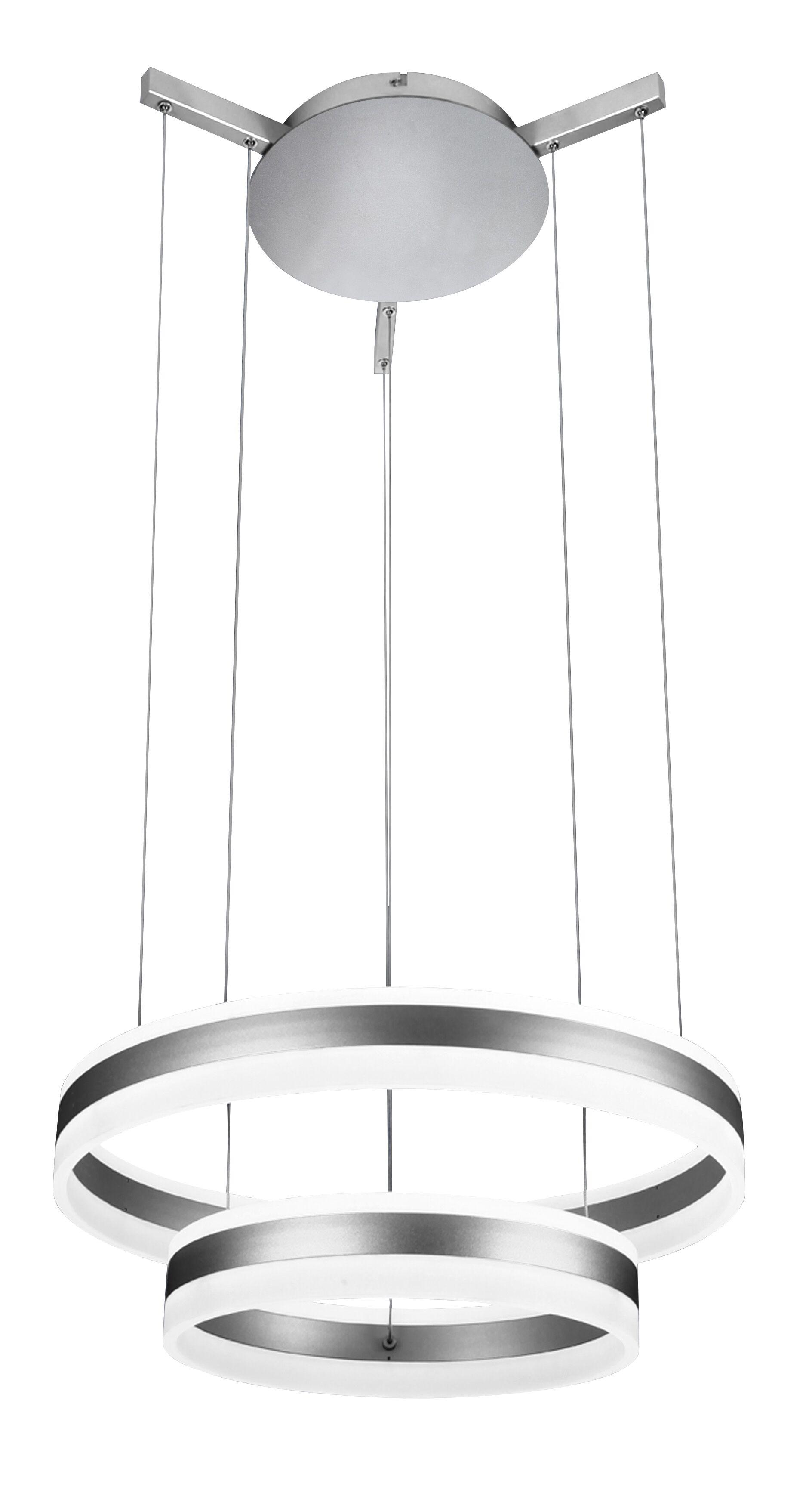 Evelyn LED 2-Light Geometric Chandelier