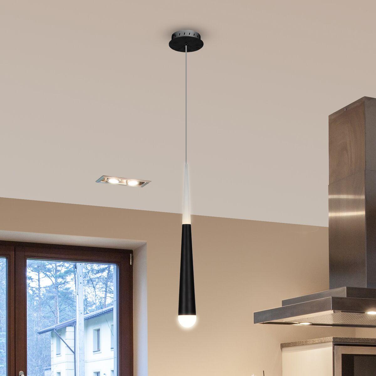 Northington Contemporary 1-Light  LED Cone Pendant Finish: Black