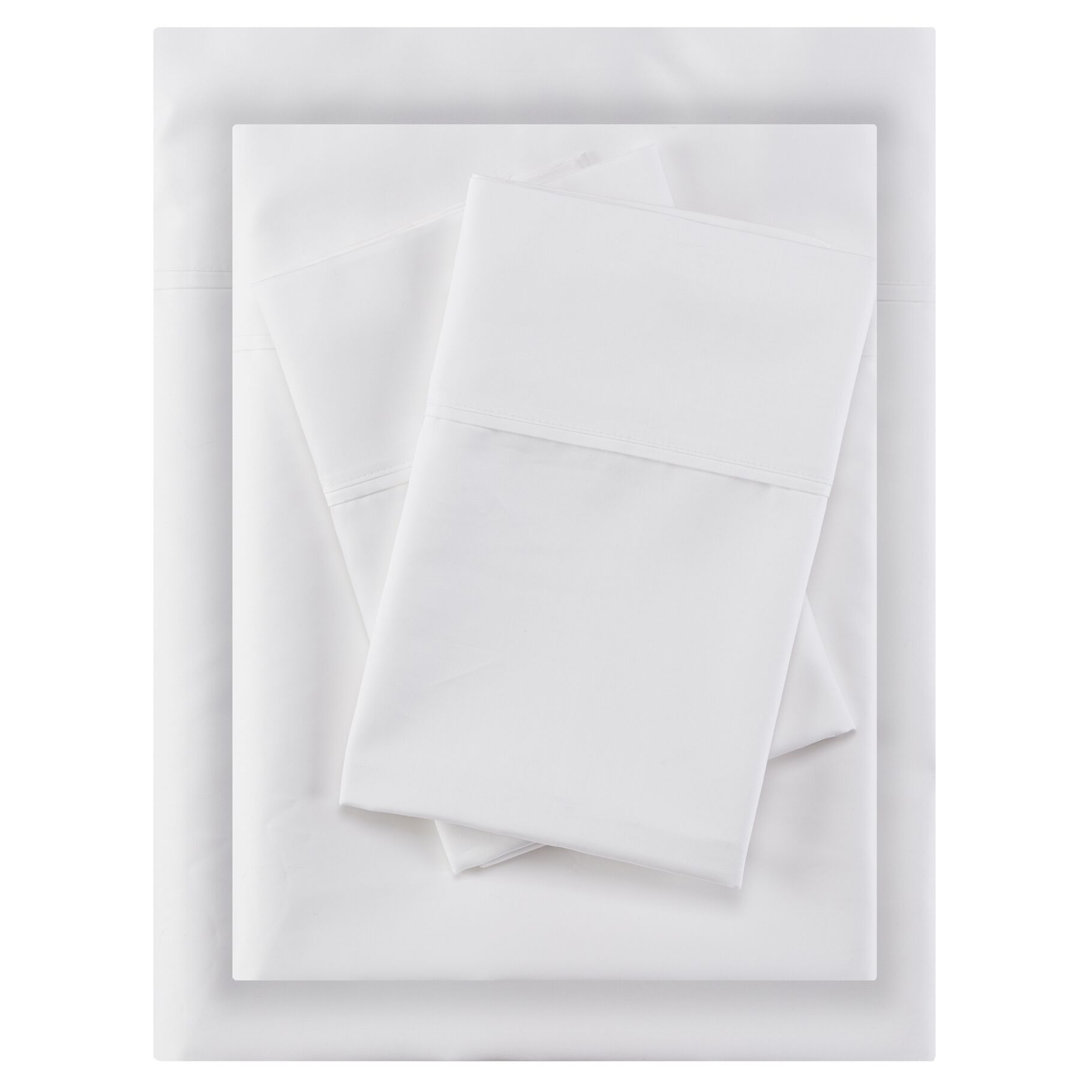 Crescent Beach 400 Thread Count 100% Cotton Sheet Set Size: King, Color: White