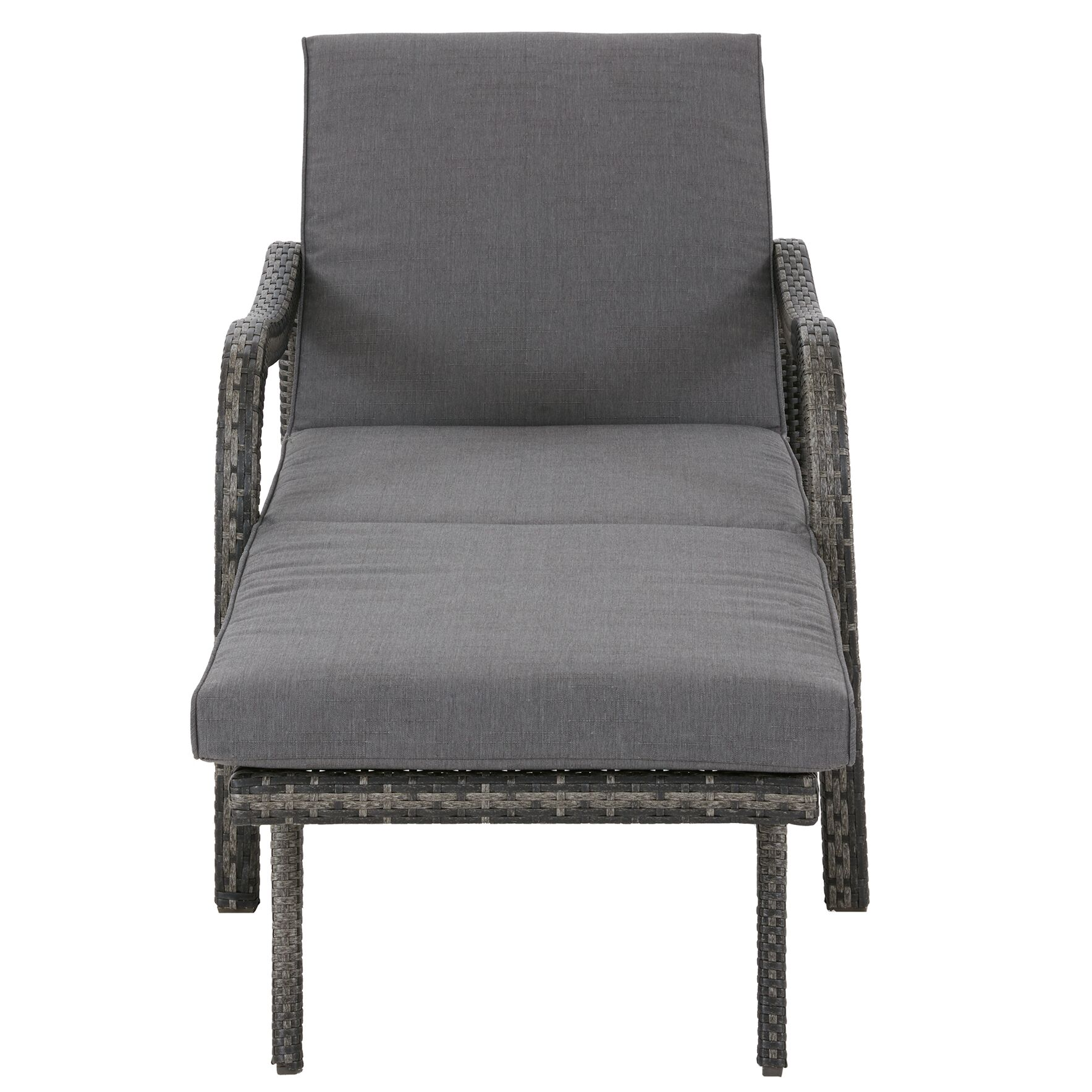 Agnes Convertible Chaise Lounge Fabric: Dark Grey
