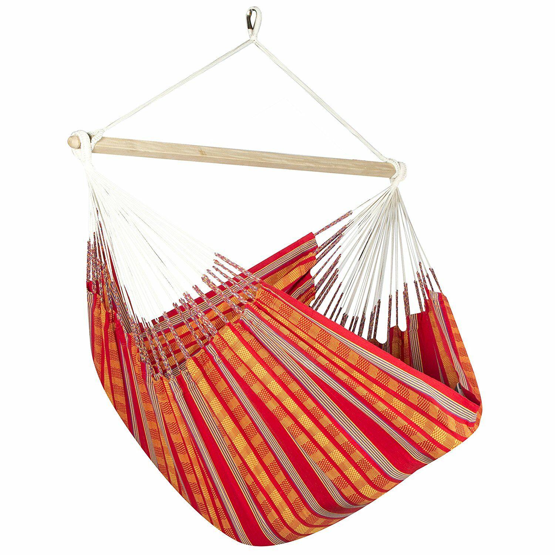 Caribbean Plaid Chair Hammock Color: Orange/Red