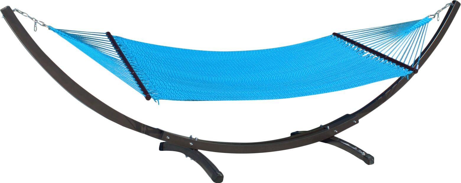 Caribbean Double Polyester Hammock Color: Light Blue