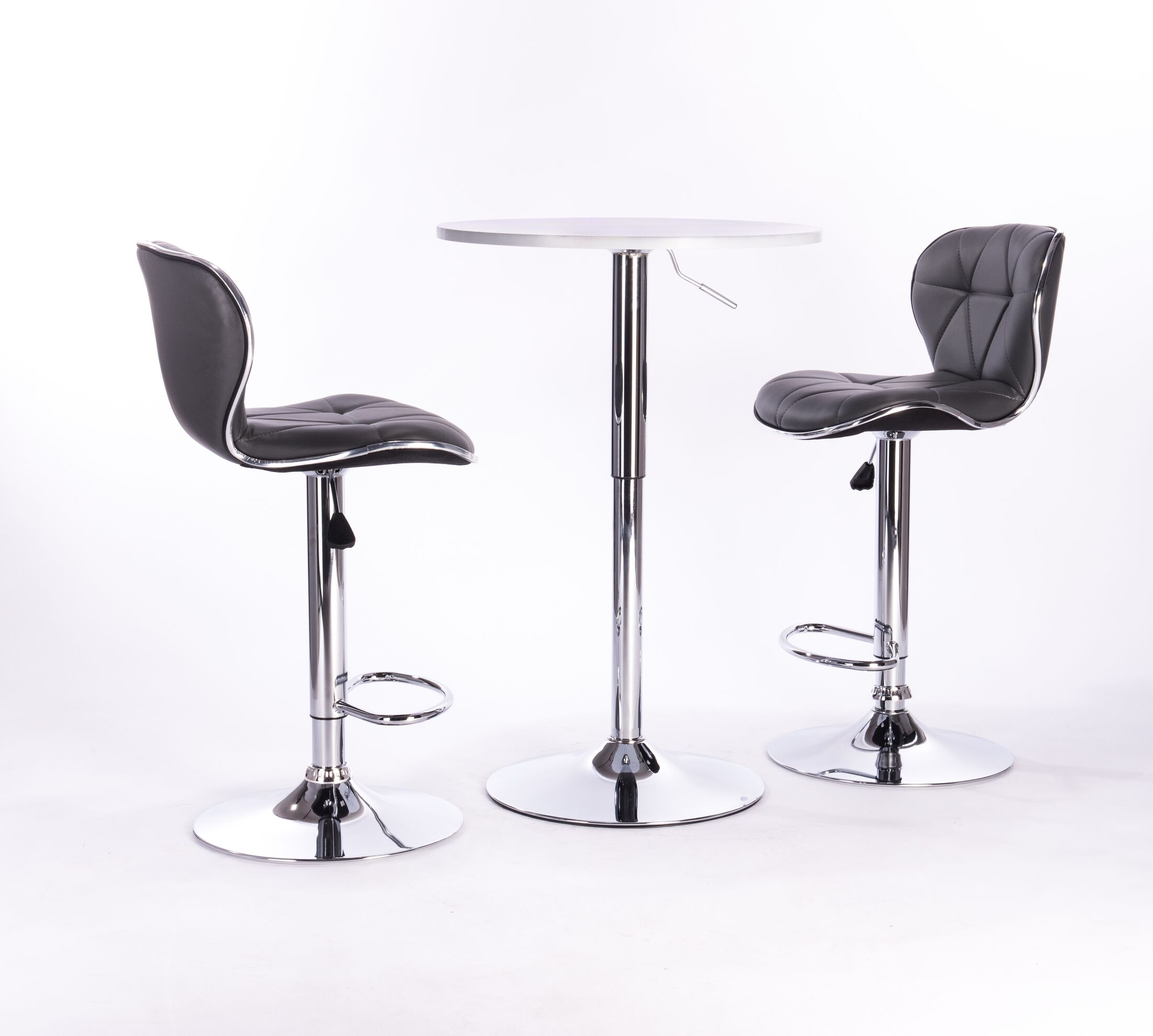 Adjustable Height Swivel Bar Stool Color: Grey