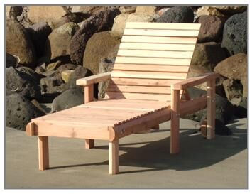 Henry Beach Wood Chaise Lounge Finish: Clear
