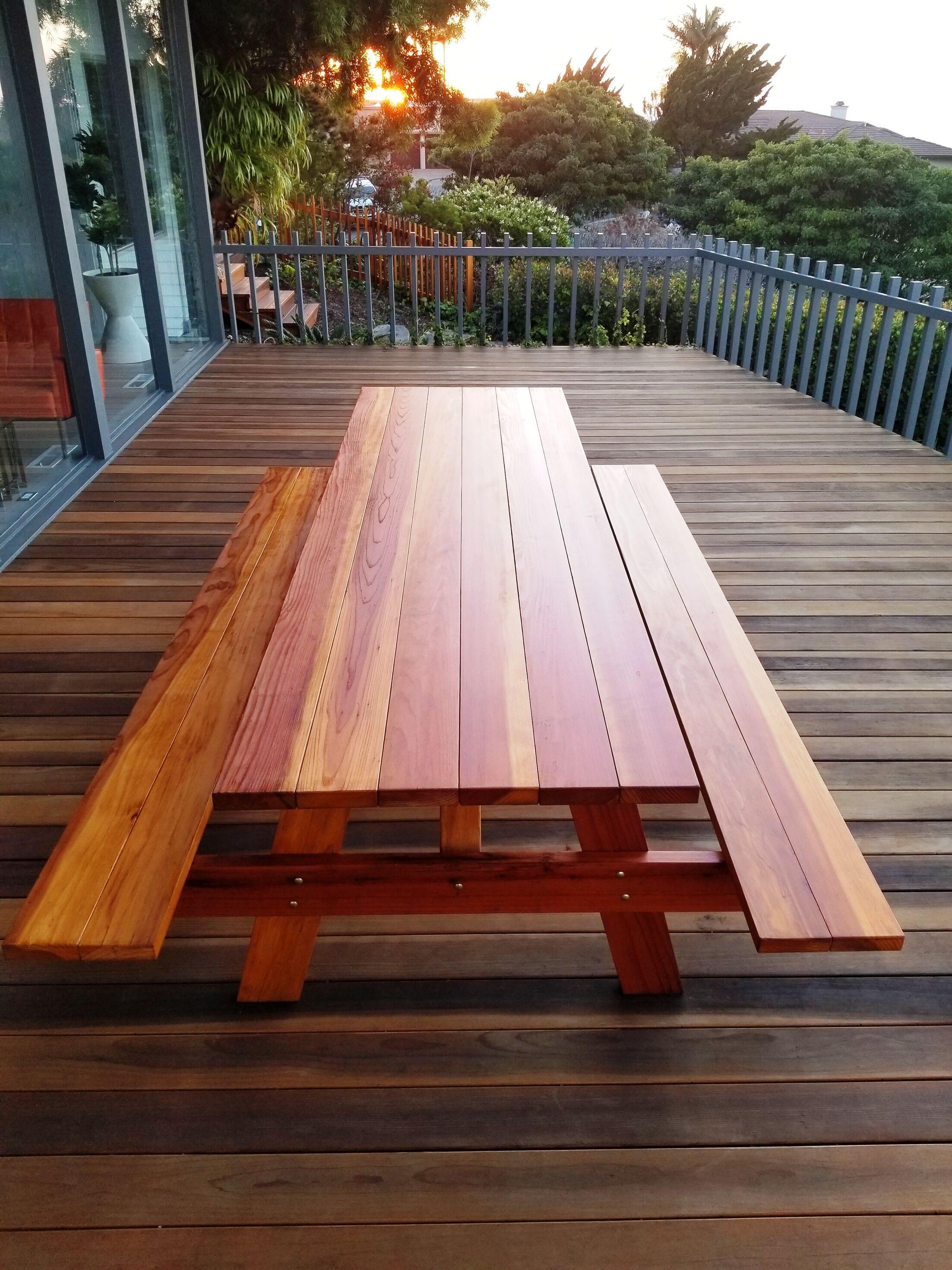 Threadgill Wooden Picnic Table Color: Super Deck, Size: 72
