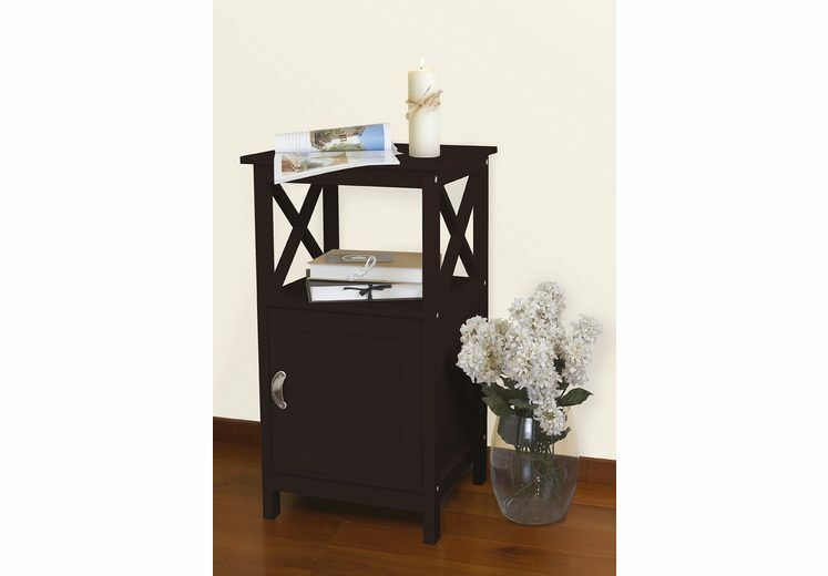 Maron End Table With Storage� Color: Black Coffee