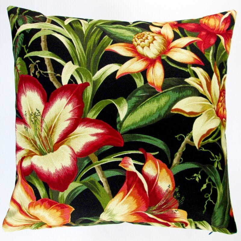 Hawaiian Tropical Hibiscus Flower Indoor/Outdoor Throw Pillow