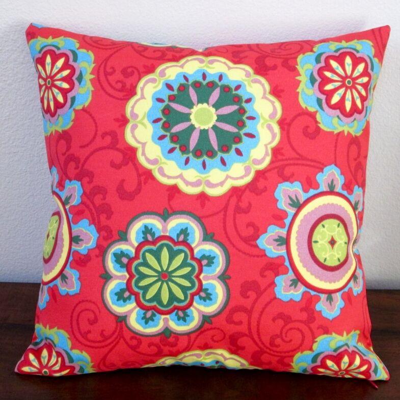 Geometric Circles Outdoor Throw Pillow