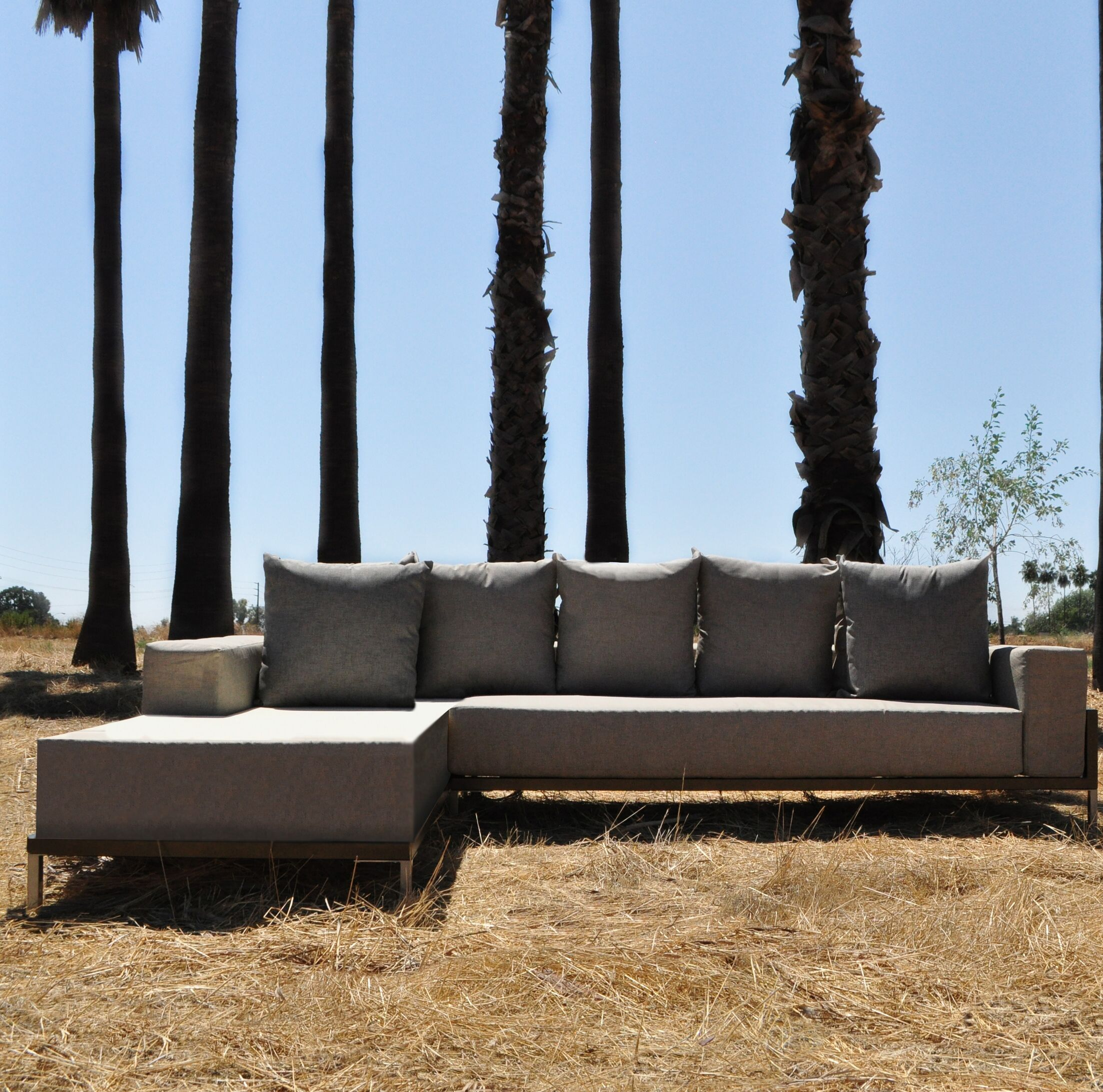 Tilly 2 Piece Sectional Set with Cushions Frame Color: Gold