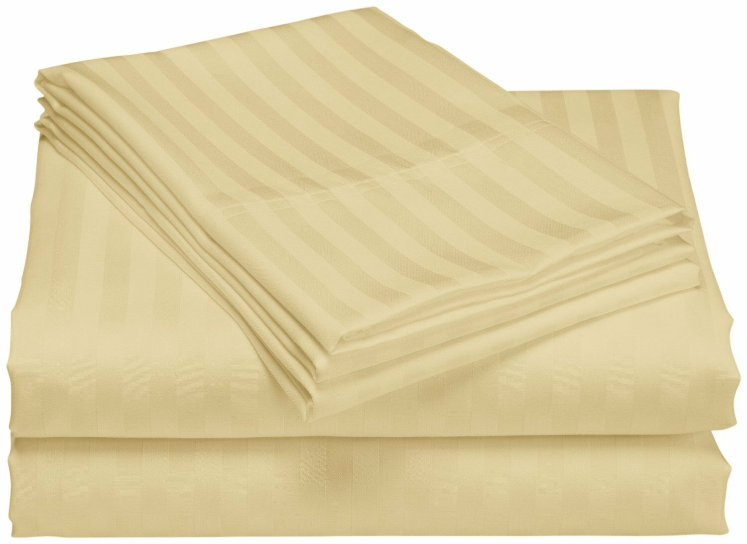 Cazares Stripe Weave 1200 Thread Count Egyptian-Quality Cotton Sheet Set Color: Taupe, Size: King