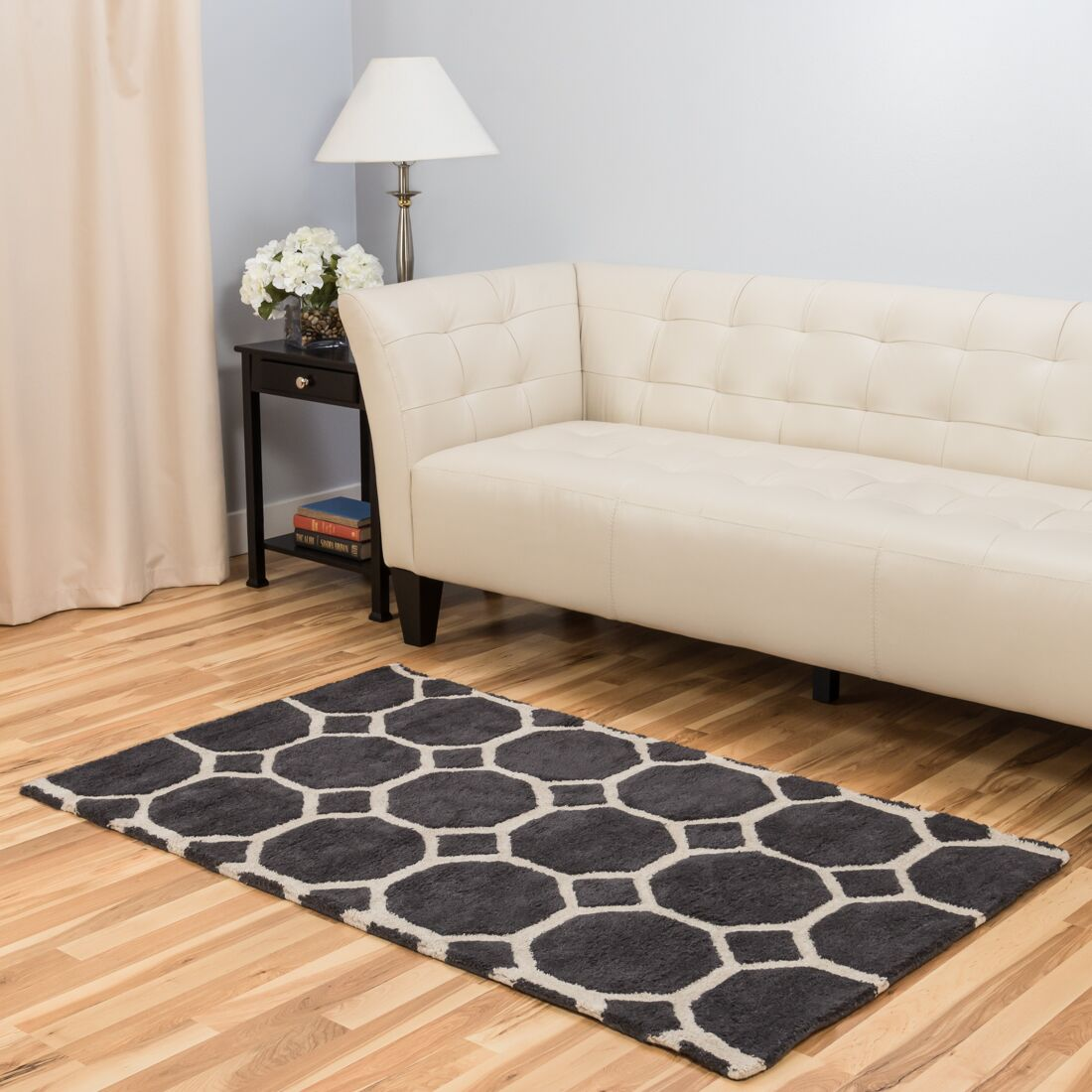 Hand-Tufted Charcoal Area Rug Rug Size: 3' x 5'