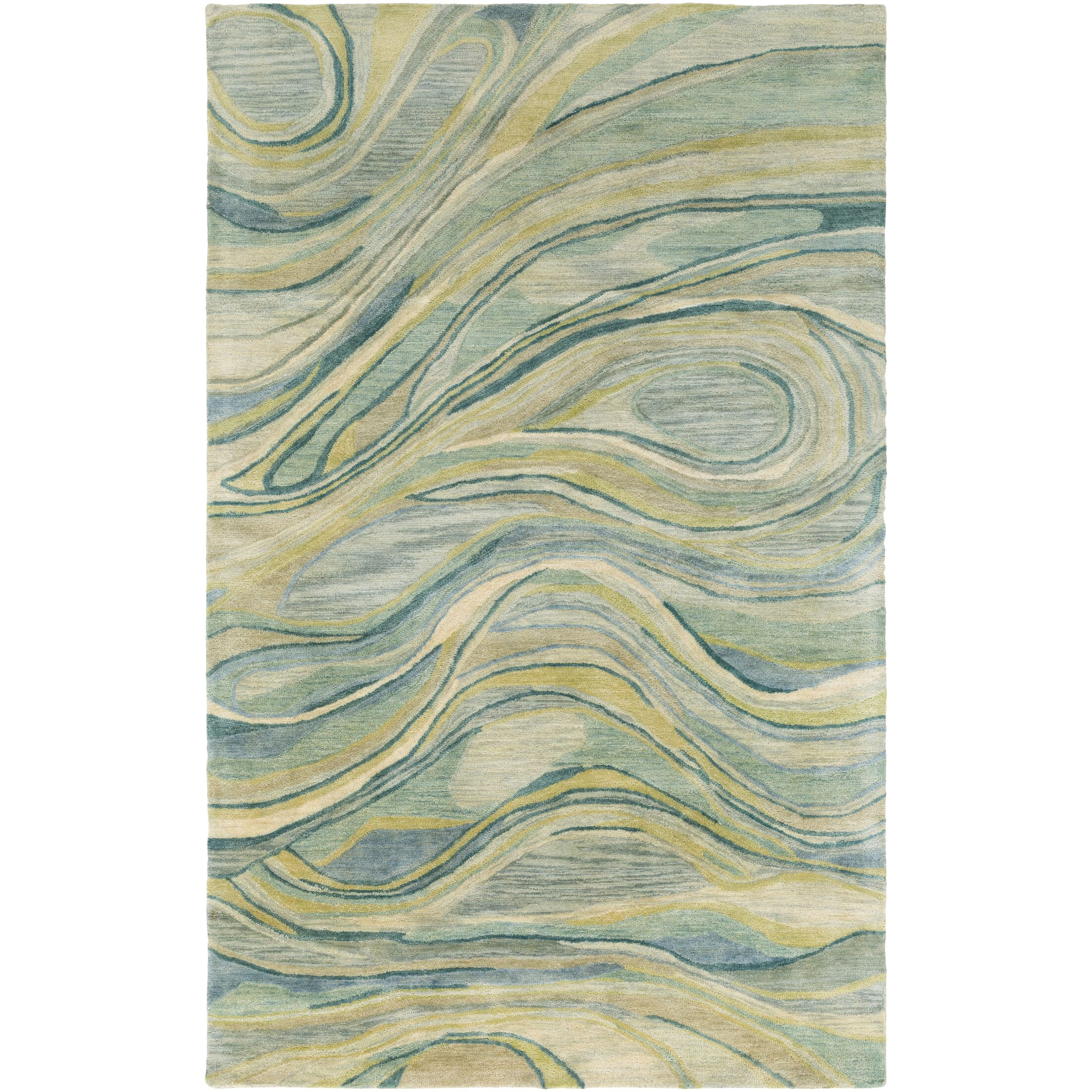 Natural Affinity Hand-Tufted Green/Beige Area Rug Rug Size: Rectangle 8' x 10'