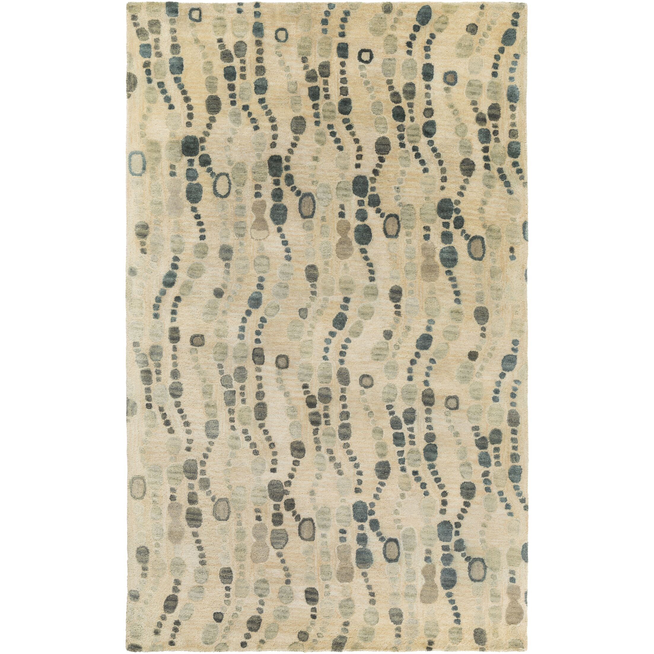 Natural Affinity Hand-Tufted Yellow/Beige Area Rug Rug Size: Rectangle 2' x 3'