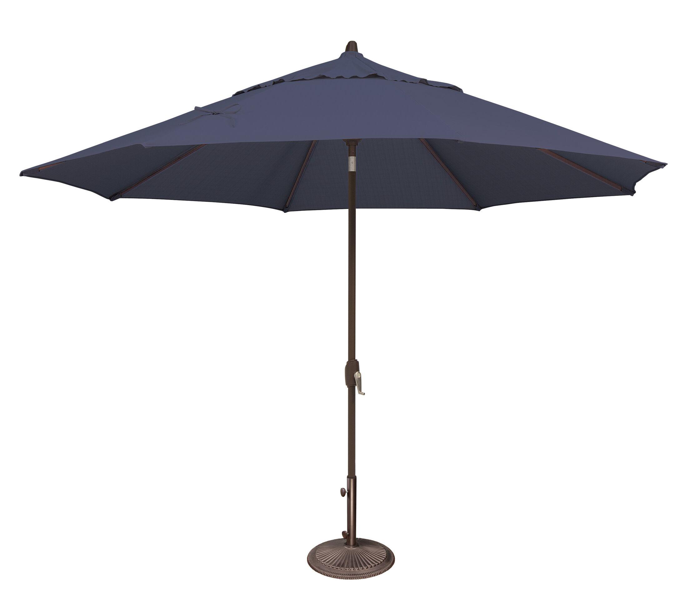 Lanai 11' Market Umbrella Fabric: Sunbrella / Navy