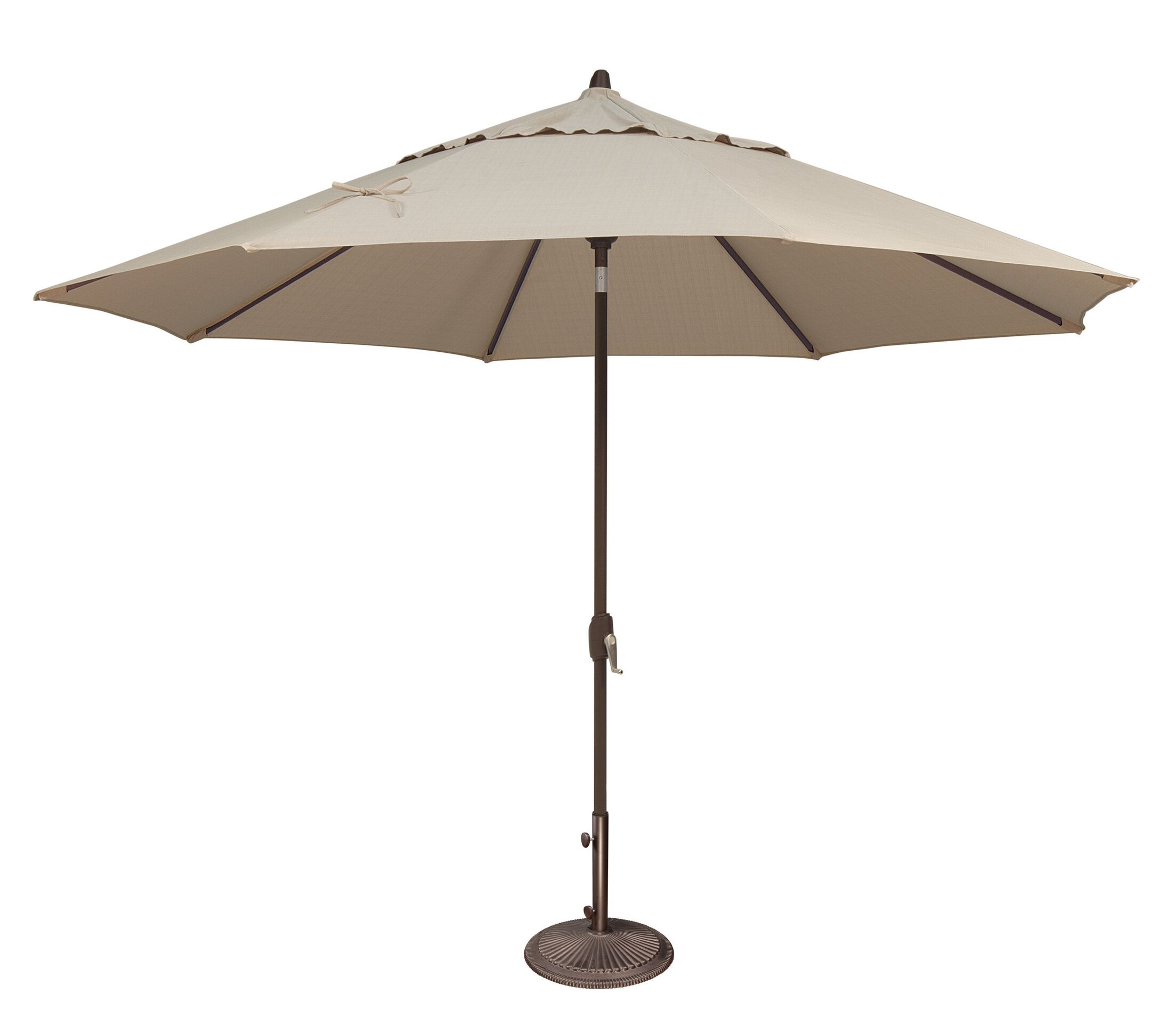 Lanai 11' Market Umbrella Fabric: Solefin / Beige