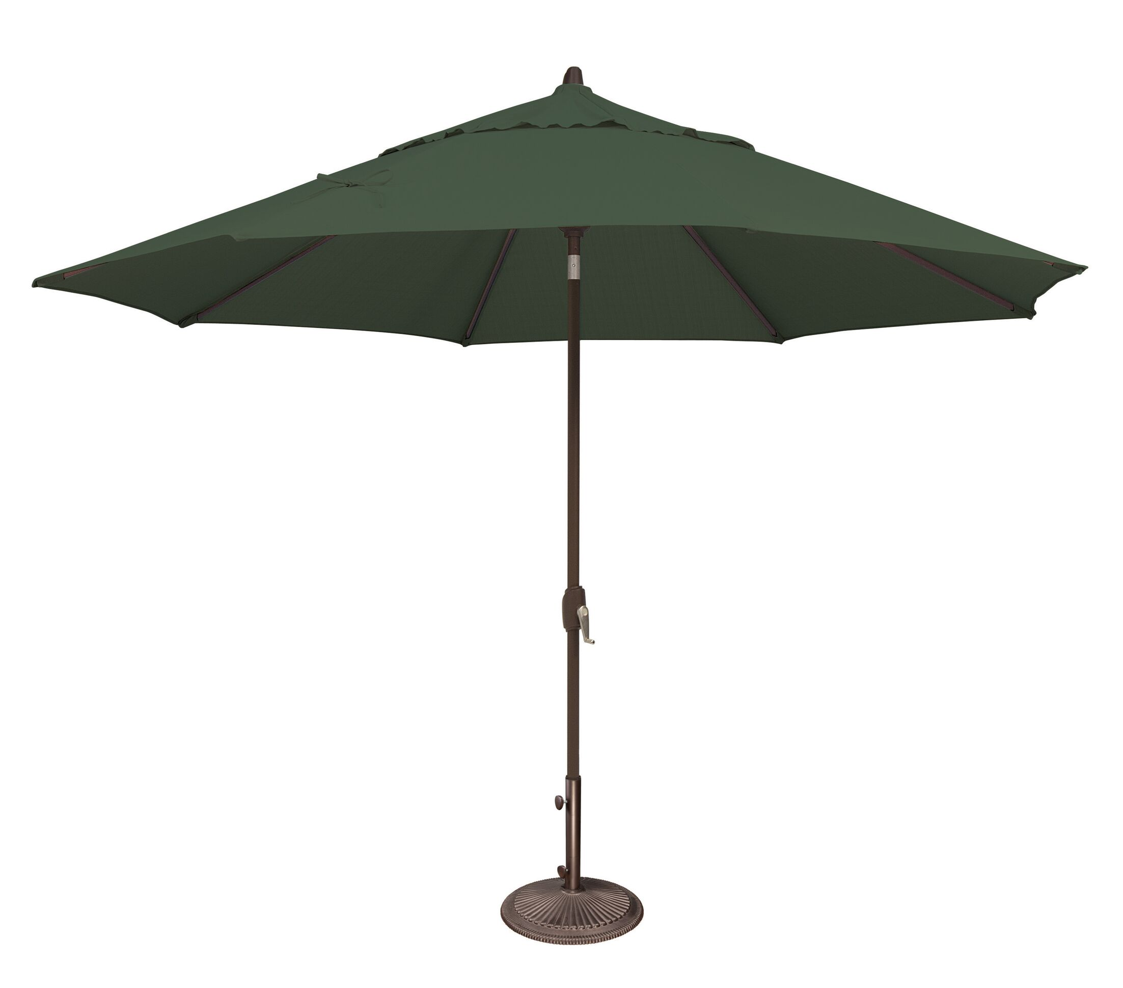 Lanai 11' Market Umbrella Fabric: Solefin / Forest Green