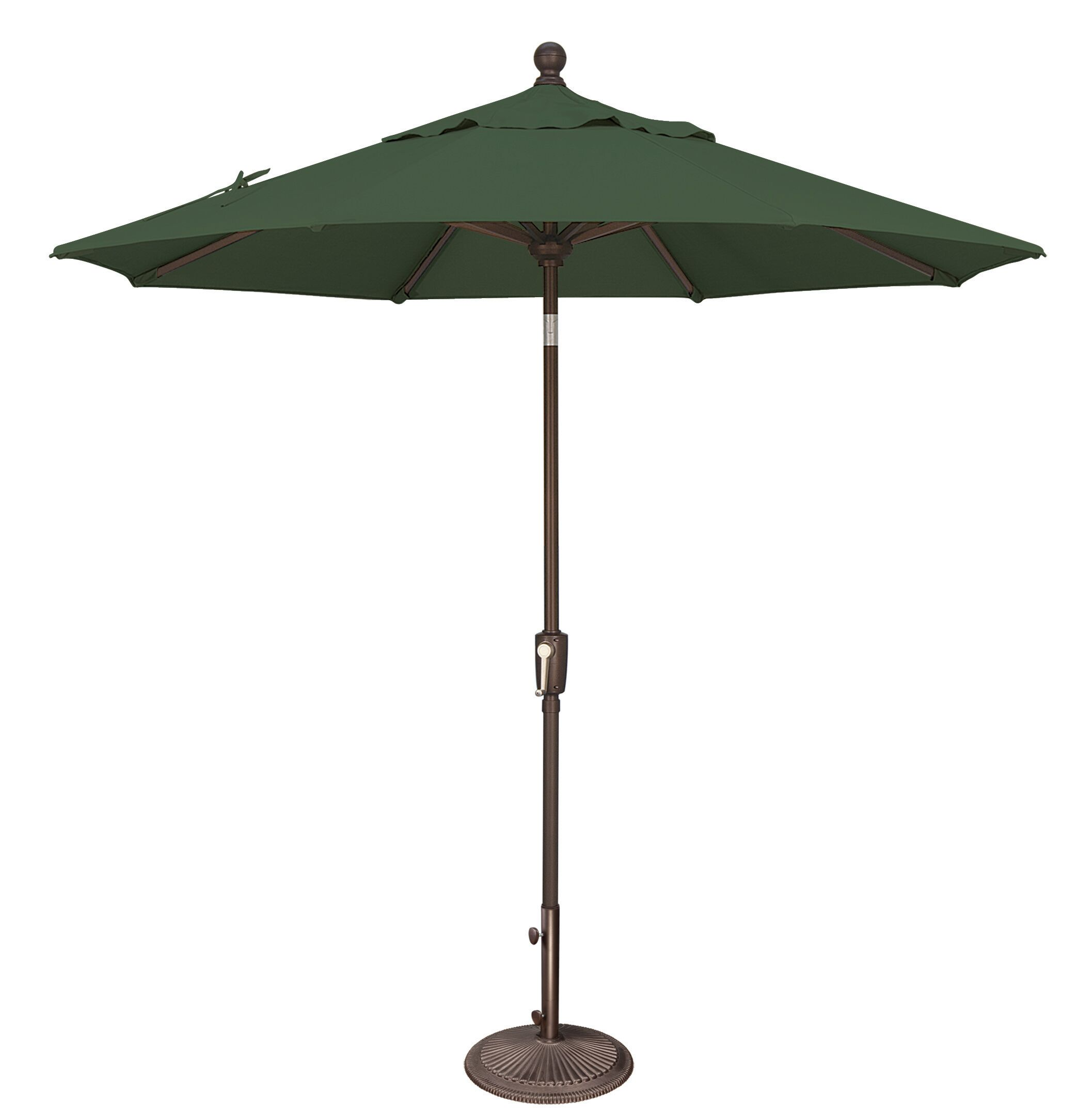 Catalina 7.5' Market Umbrella Fabric: Sunbrella / Forest Green