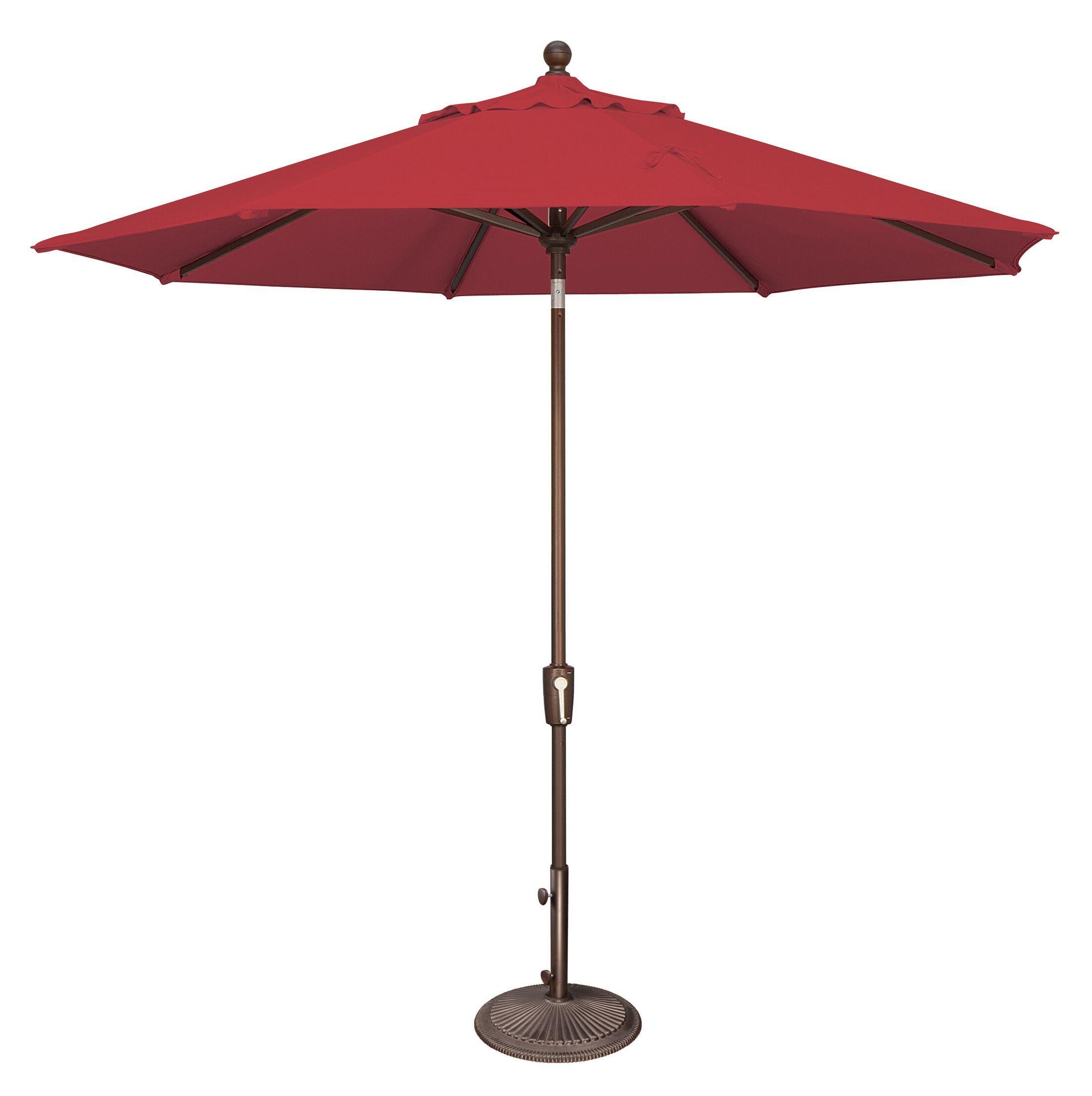 Catalina 9' Market Umbrella Fabric Color: Sunbrella / Jockey Red
